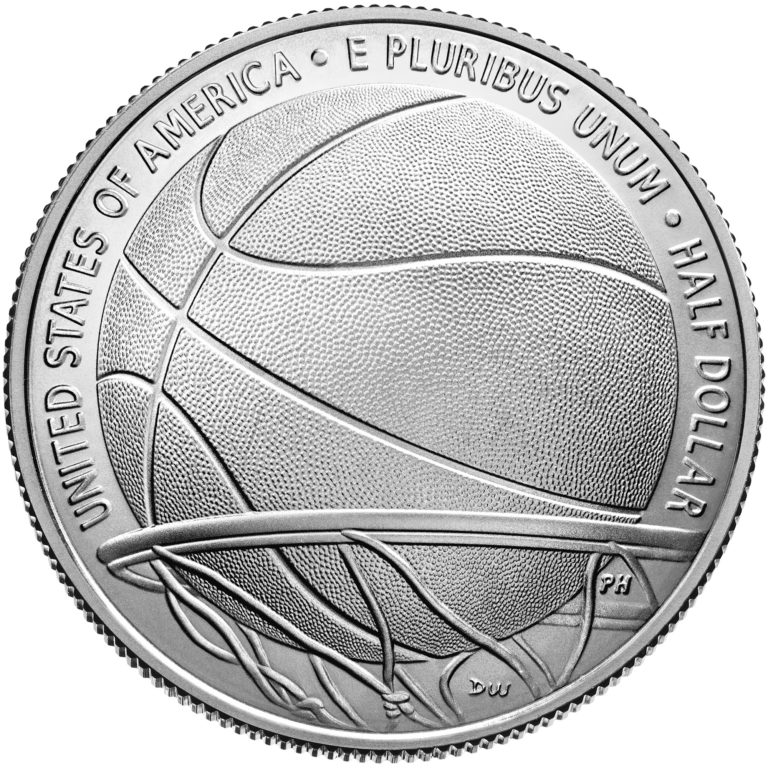 2020 Basketball Hall of Fame Commemorative Clad Half Dollar Uncirculated Reverse
