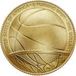 2020 Basketball Hall of Fame Commemorative Gold Five Dollar Uncirculated Reverse