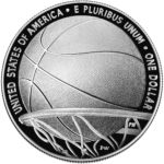 2020 Basketball Hall of Fame Commemorative Silver One Dollar Proof Reverse