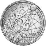 2020 Basketball Hall of Fame Commemorative Silver One Dollar Uncirculated Obverse