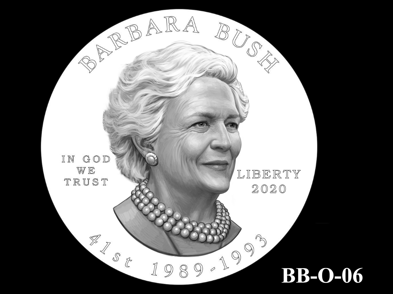 BB-O-06 -- Barbara Bush Gold Coin and Bronze Medal - Obverse