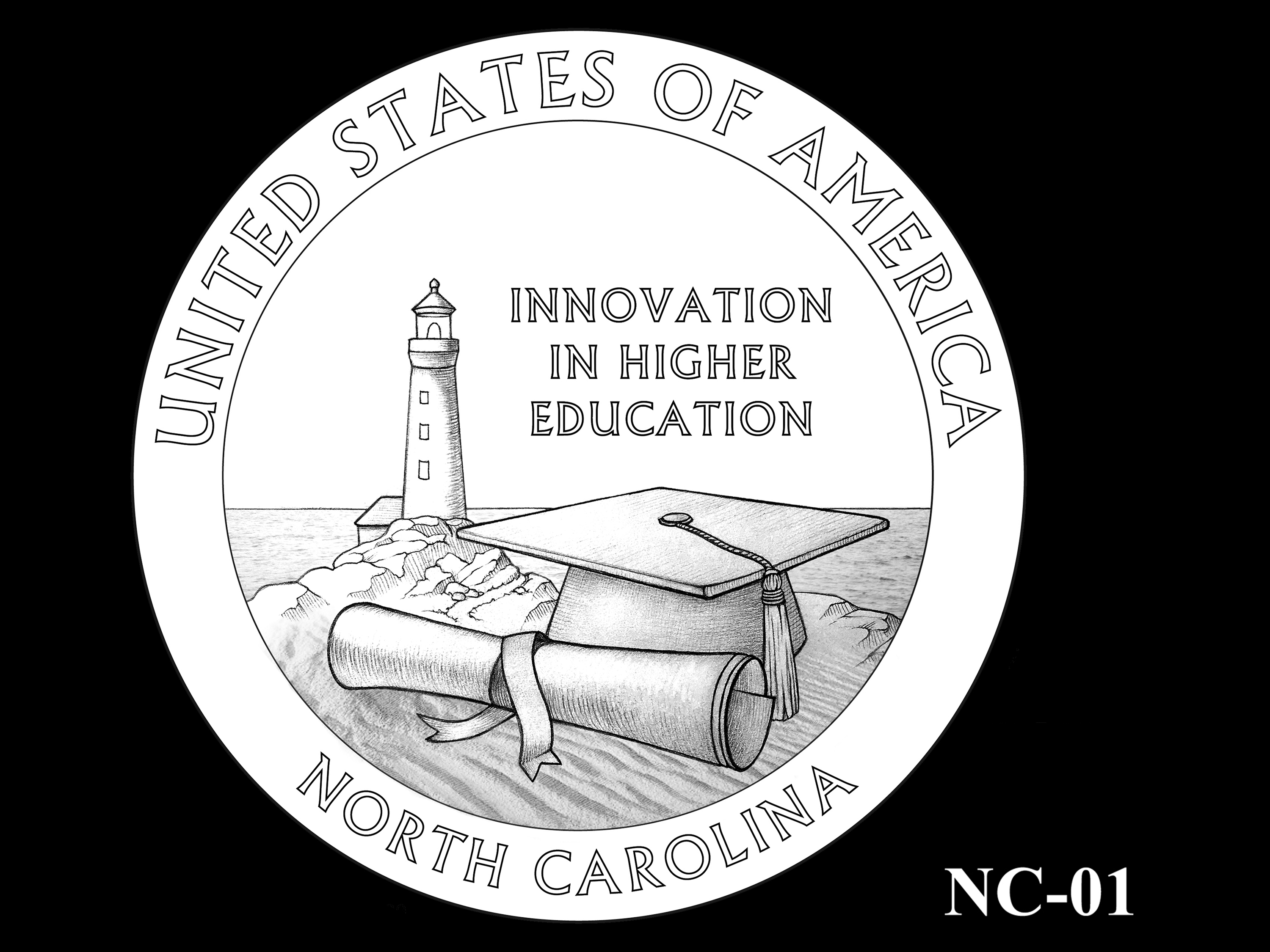 NC-01 -- 2021 American Innovation $1 Coin - North Carolina