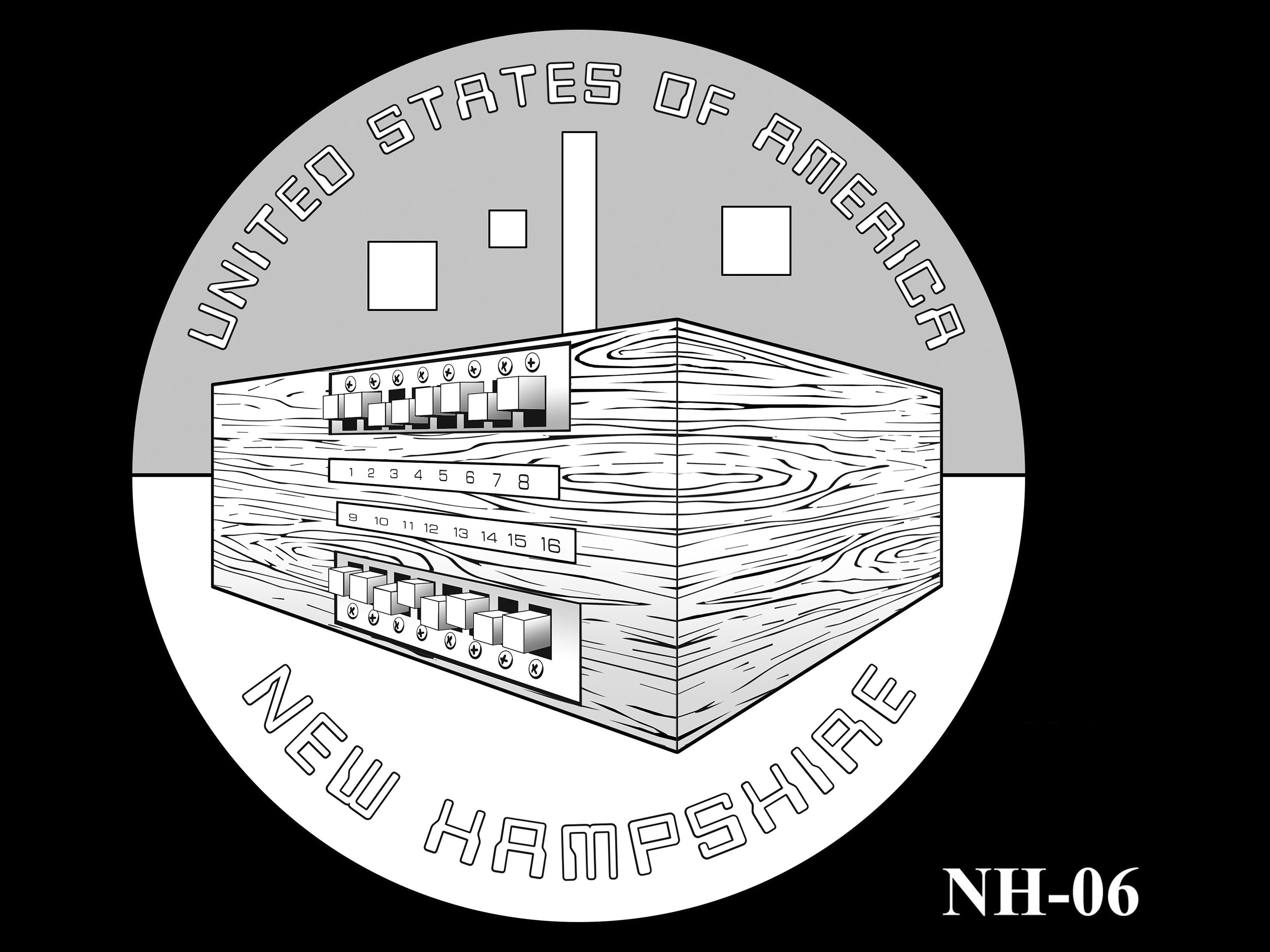 NH-06 -- 2021 American Innovation $1 Coin - New Hampshire