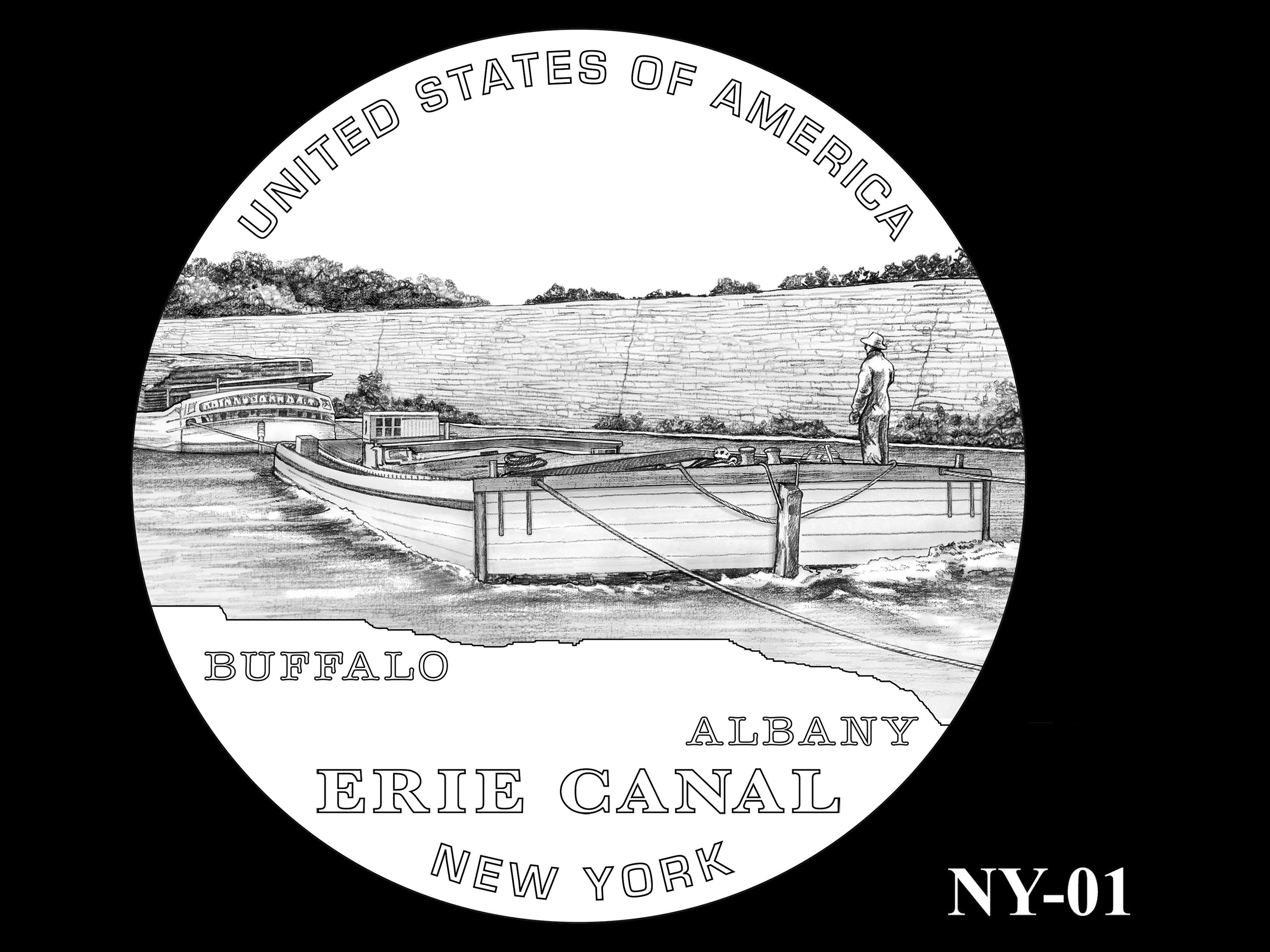 NY-01 -- 2021 American Innovation $1 Coin - New York