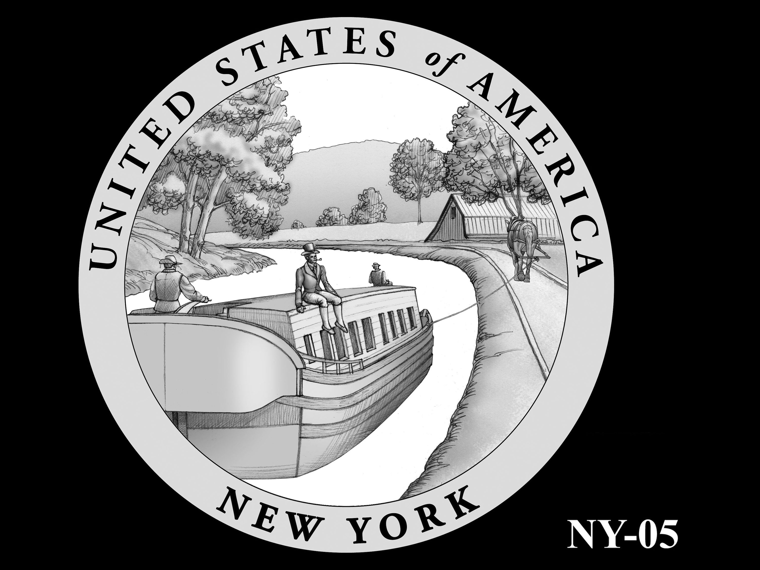 NY-05 -- 2021 American Innovation $1 Coin - New York