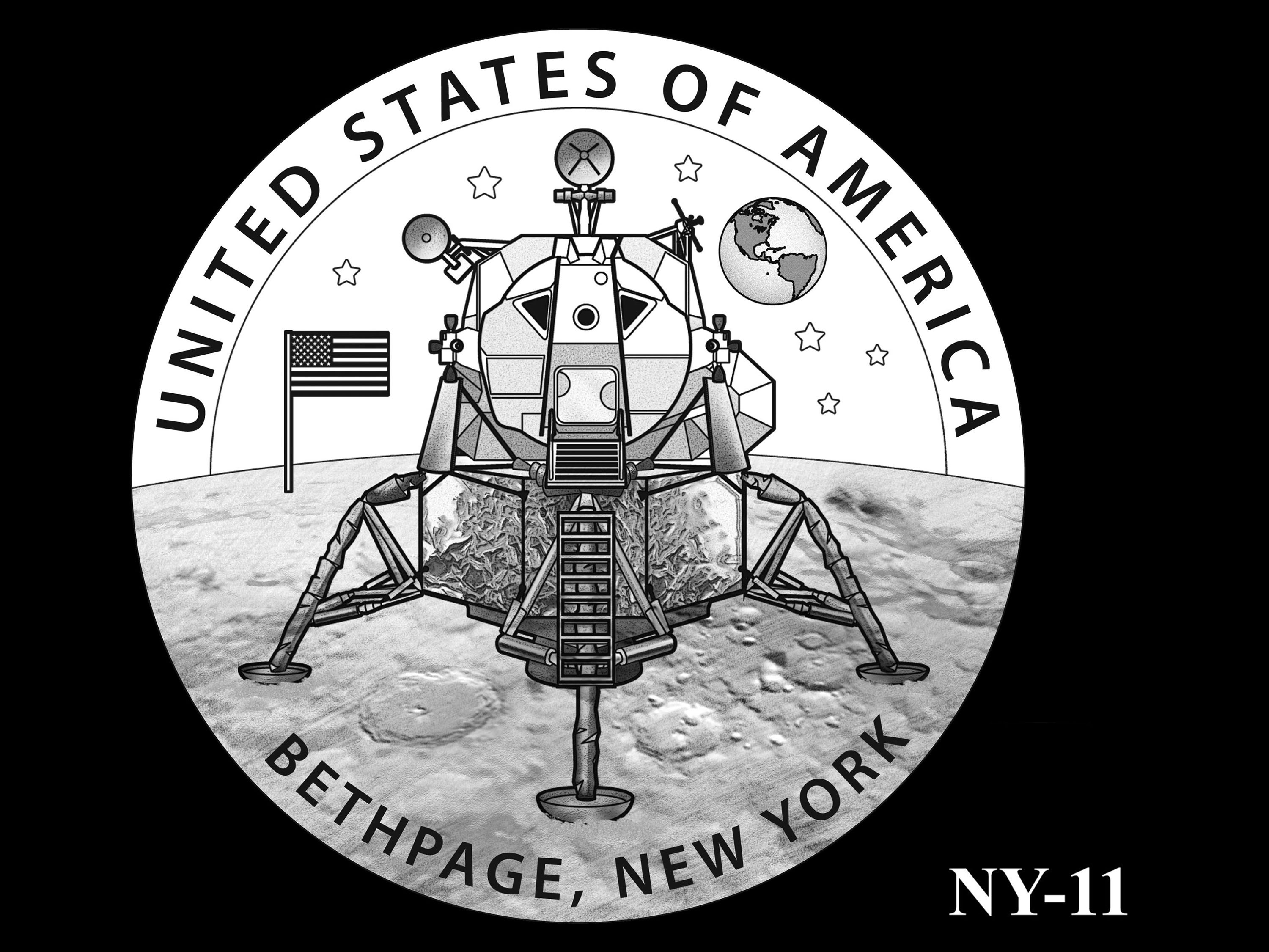 NY-11 -- 2021 American Innovation $1 Coin - New York