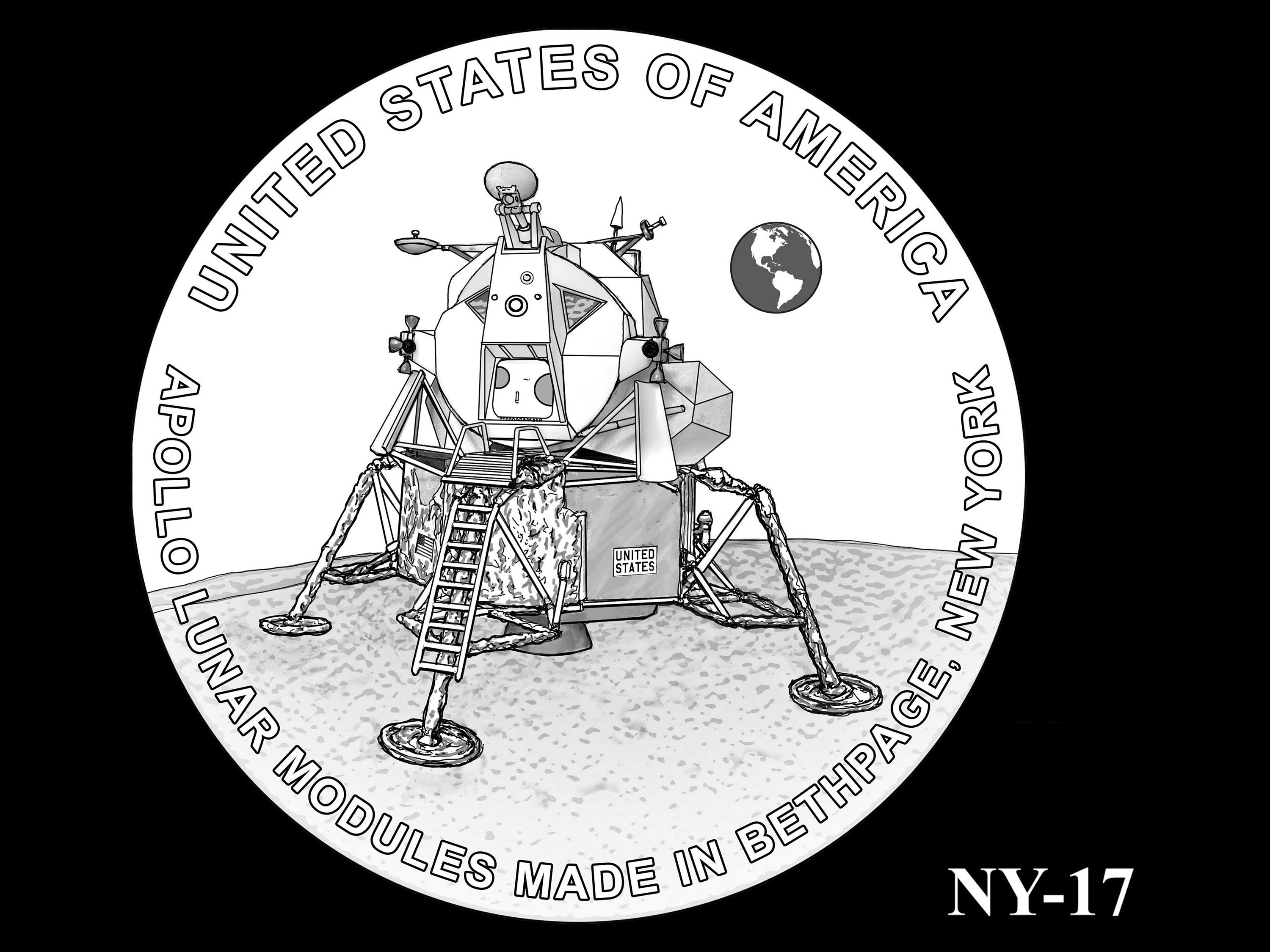 NY-17 -- 2021 American Innovation $1 Coin - New York