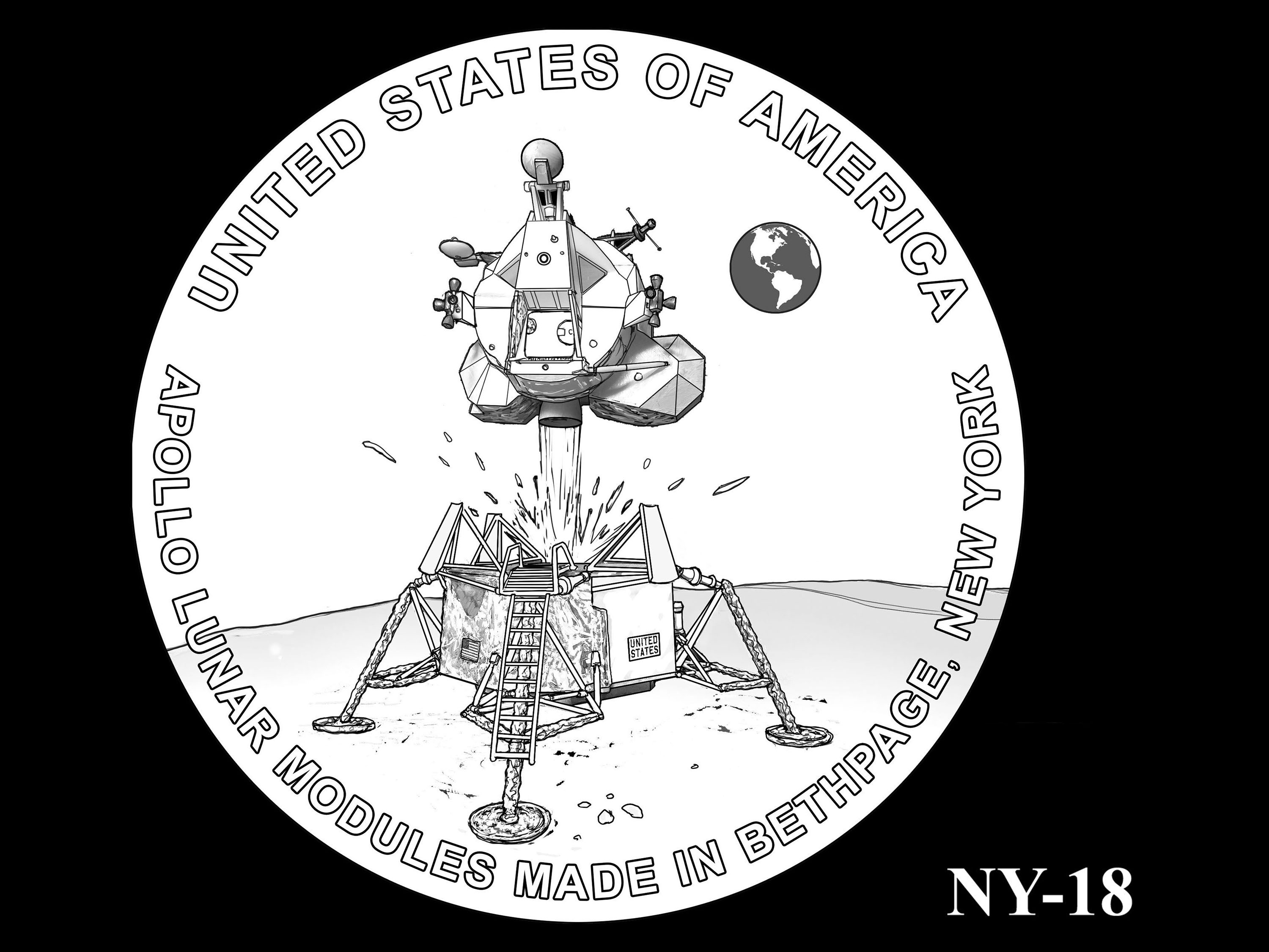 NY-18 -- 2021 American Innovation $1 Coin - New York