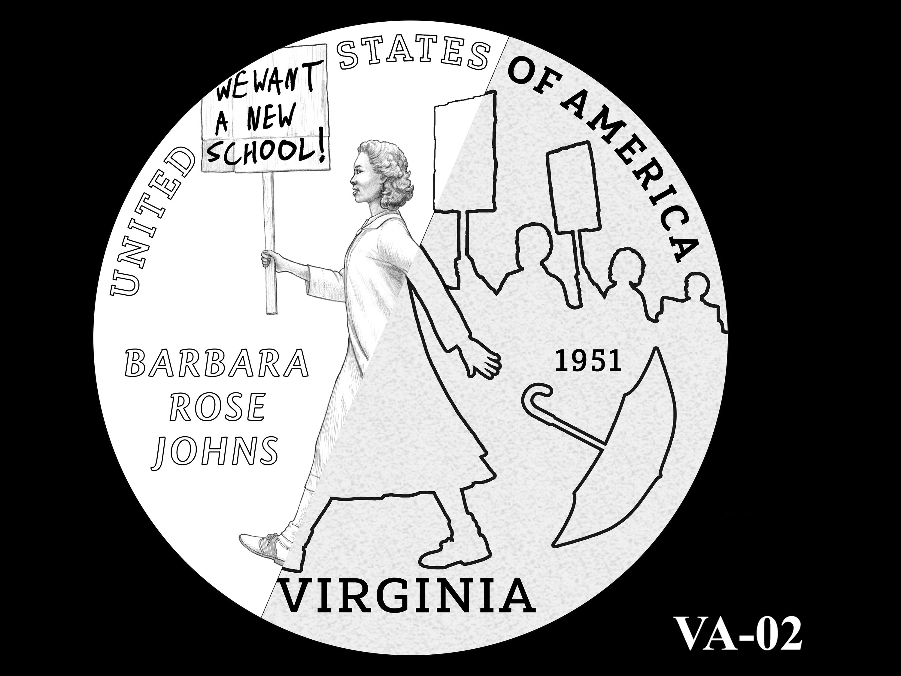 VA-02 -- 2021 American Innovation $1 Coin - Virginia