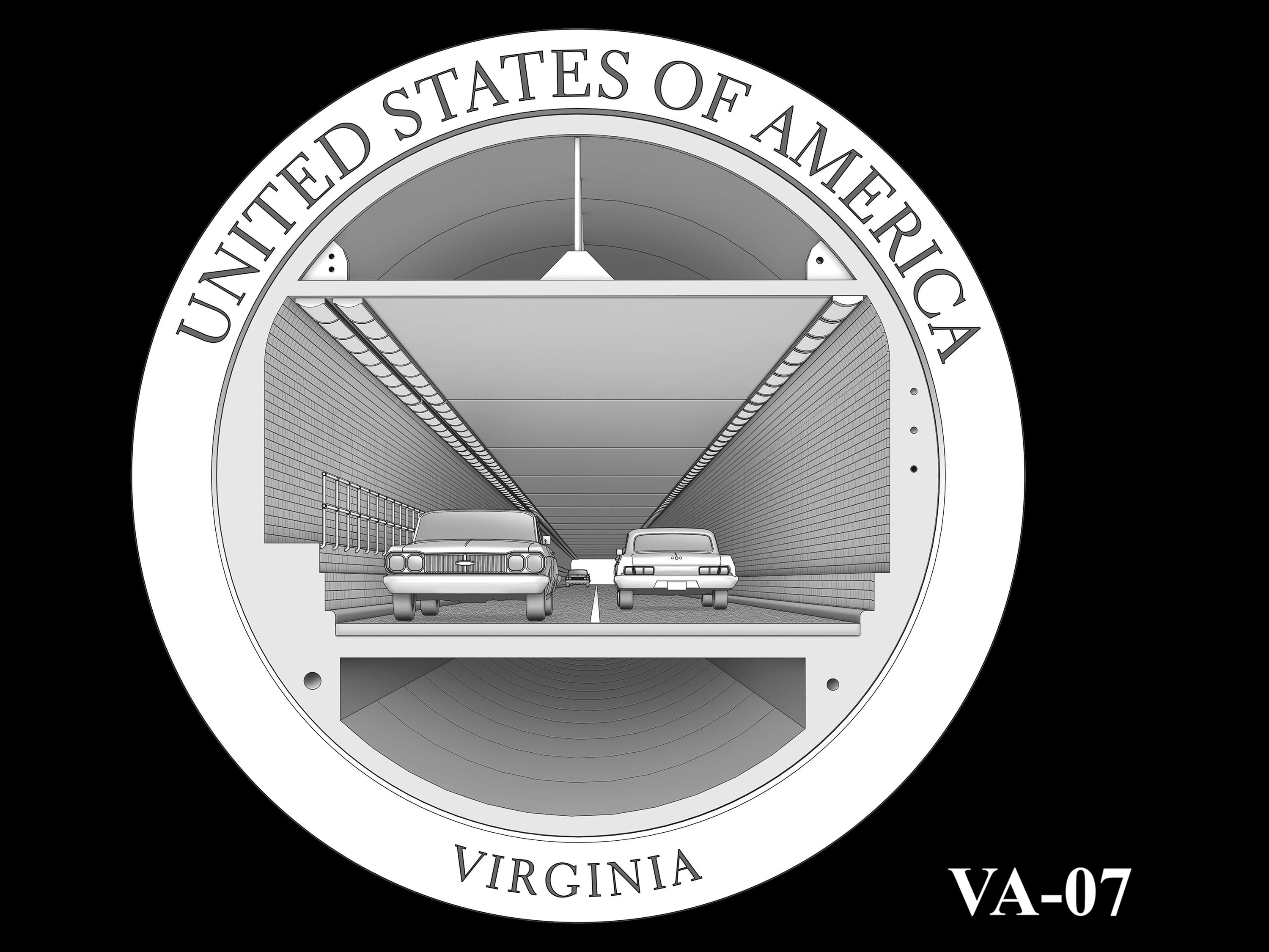 VA-07 -- 2021 American Innovation $1 Coin - Virginia