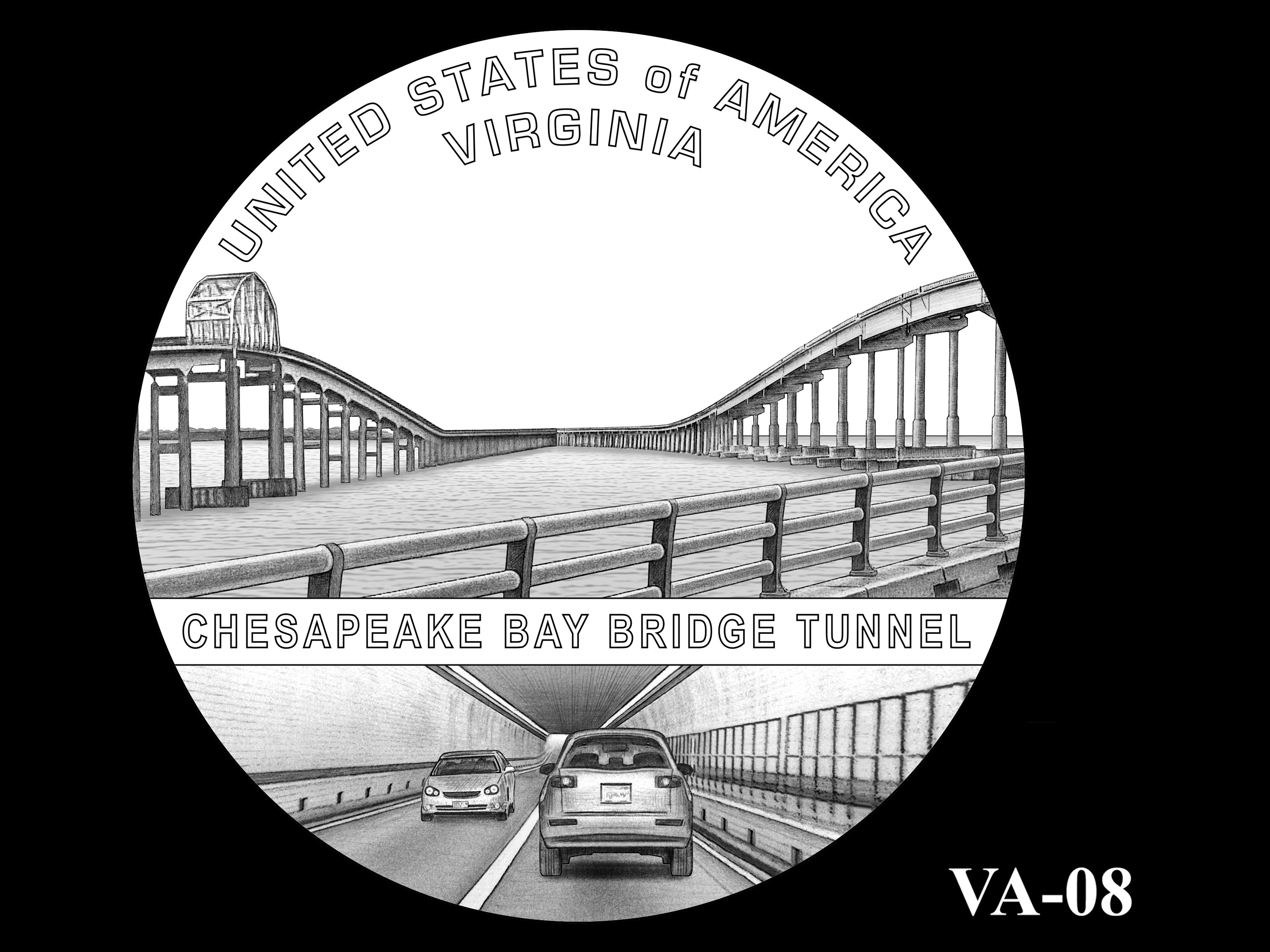 VA-08 -- 2021 American Innovation $1 Coin - Virginia