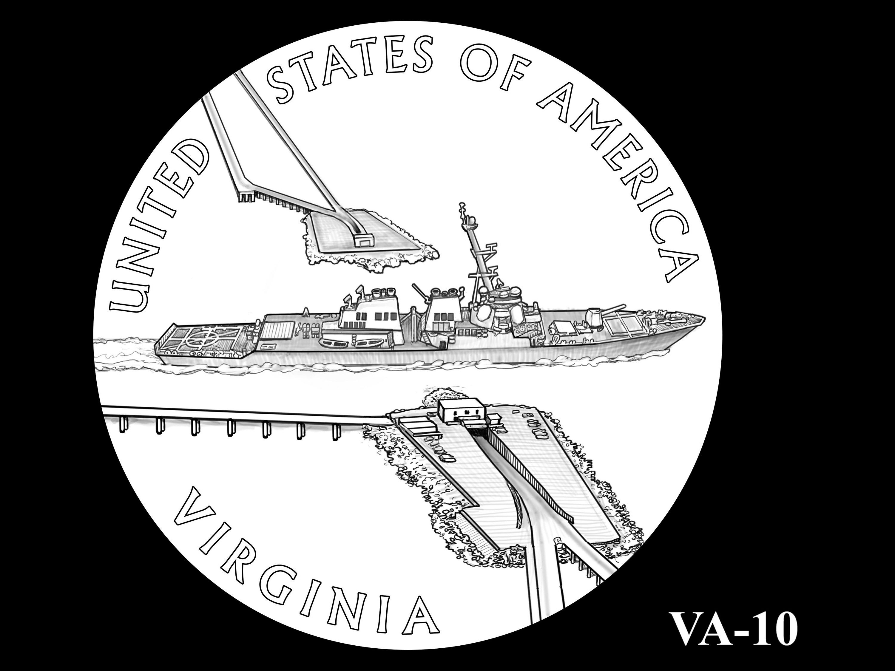VA-10 -- 2021 American Innovation $1 Coin - Virginia