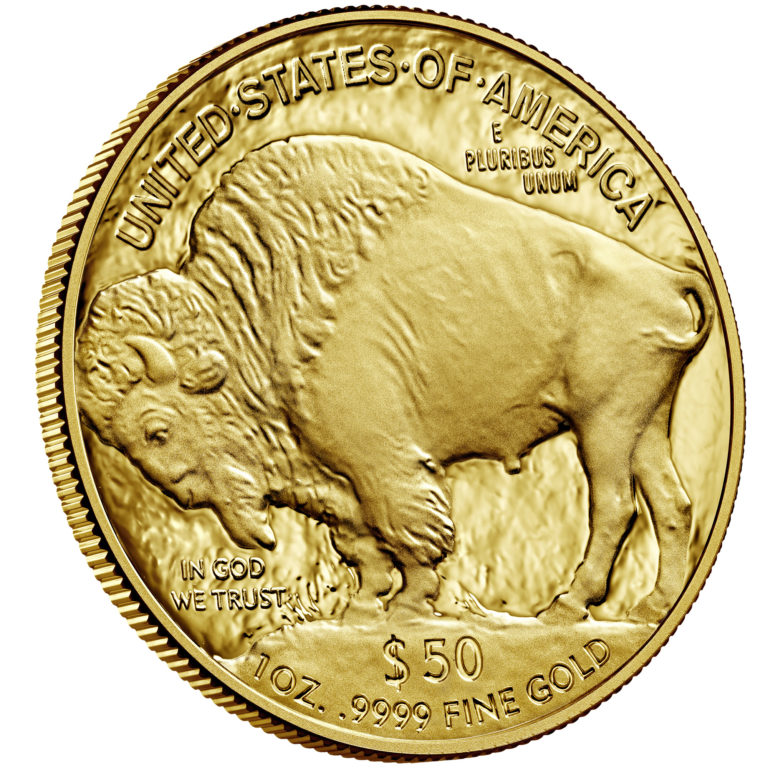 2020 American Buffalo One Ounce Gold Proof Coin Reverse Angle