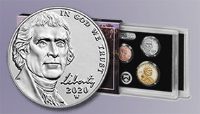 2020 silver proof set W nickel homepage feature