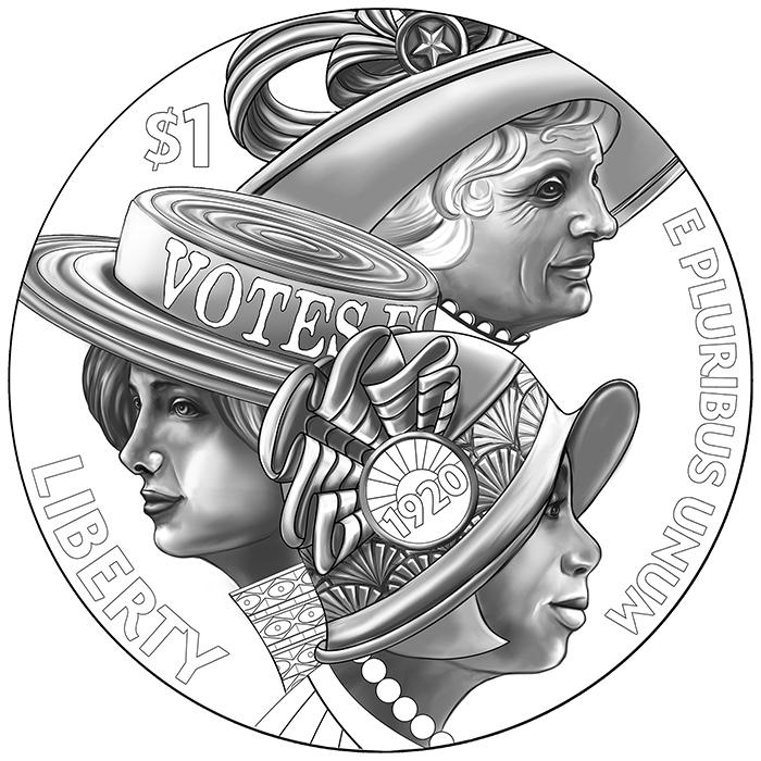 Women's Suffrage Centennial Silver Dollar Obverse