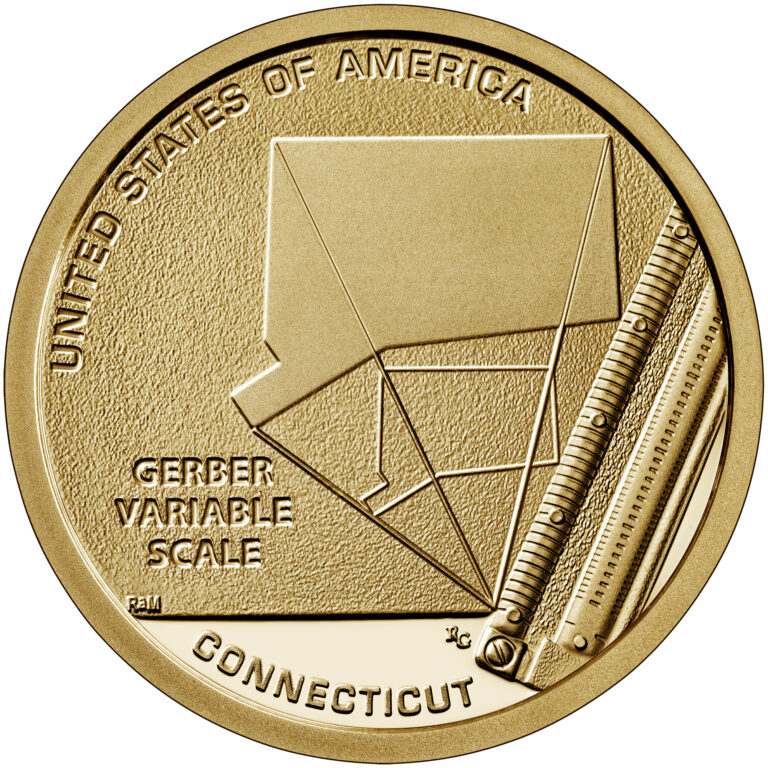 2020 American Innovation One Dollar Coin Connecticut Proof Reverse