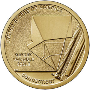 2020 American Innovation One Dollar Coin Connecticut Uncirculated Reverse