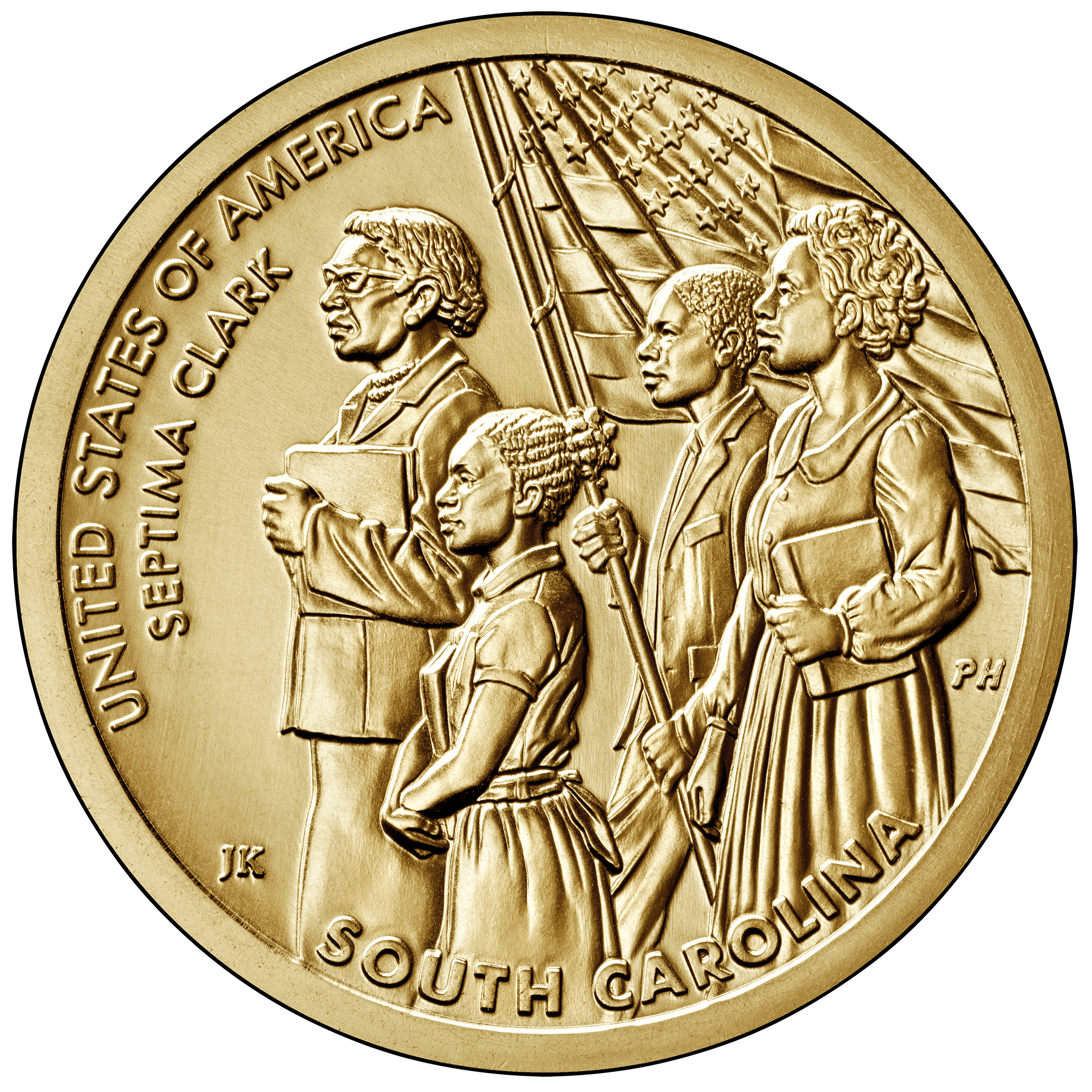 2020 American Innovation One Dollar Coin South Carolina Uncirculated Reverse