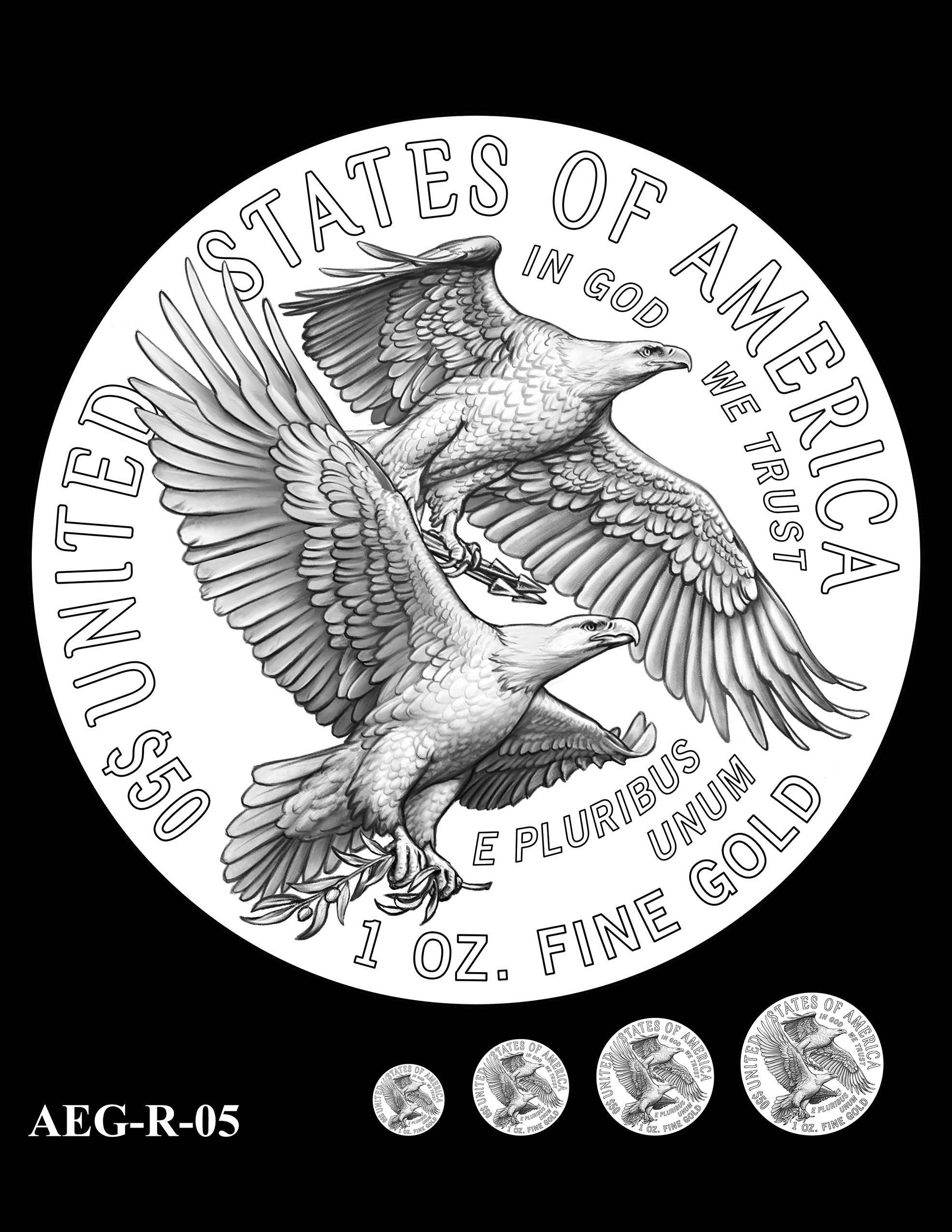 AEG-R-05 -- American Eagle Proof and Bullion Gold Coin - Reverse
