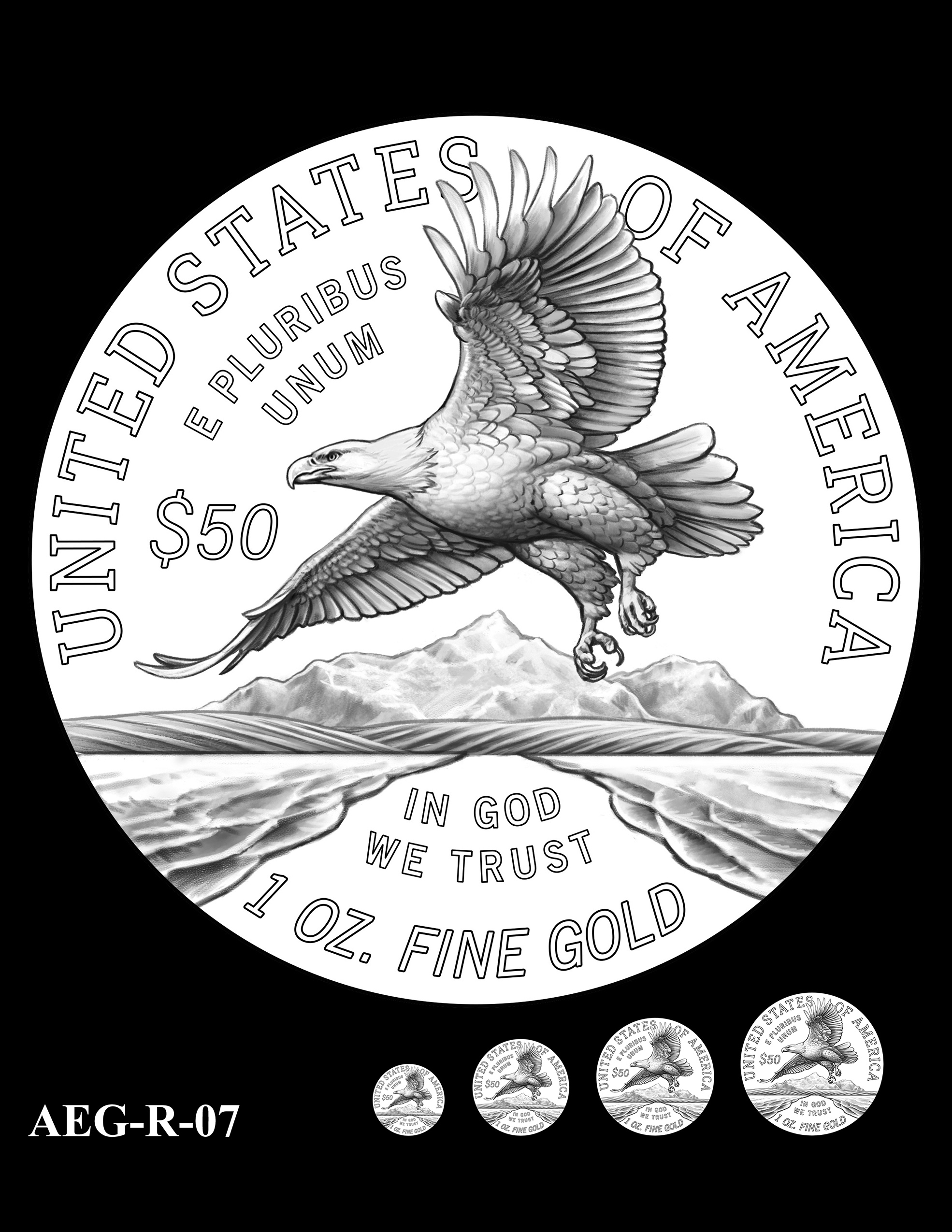 AEG-R-07 -- American Eagle Proof and Bullion Gold Coin - Reverse