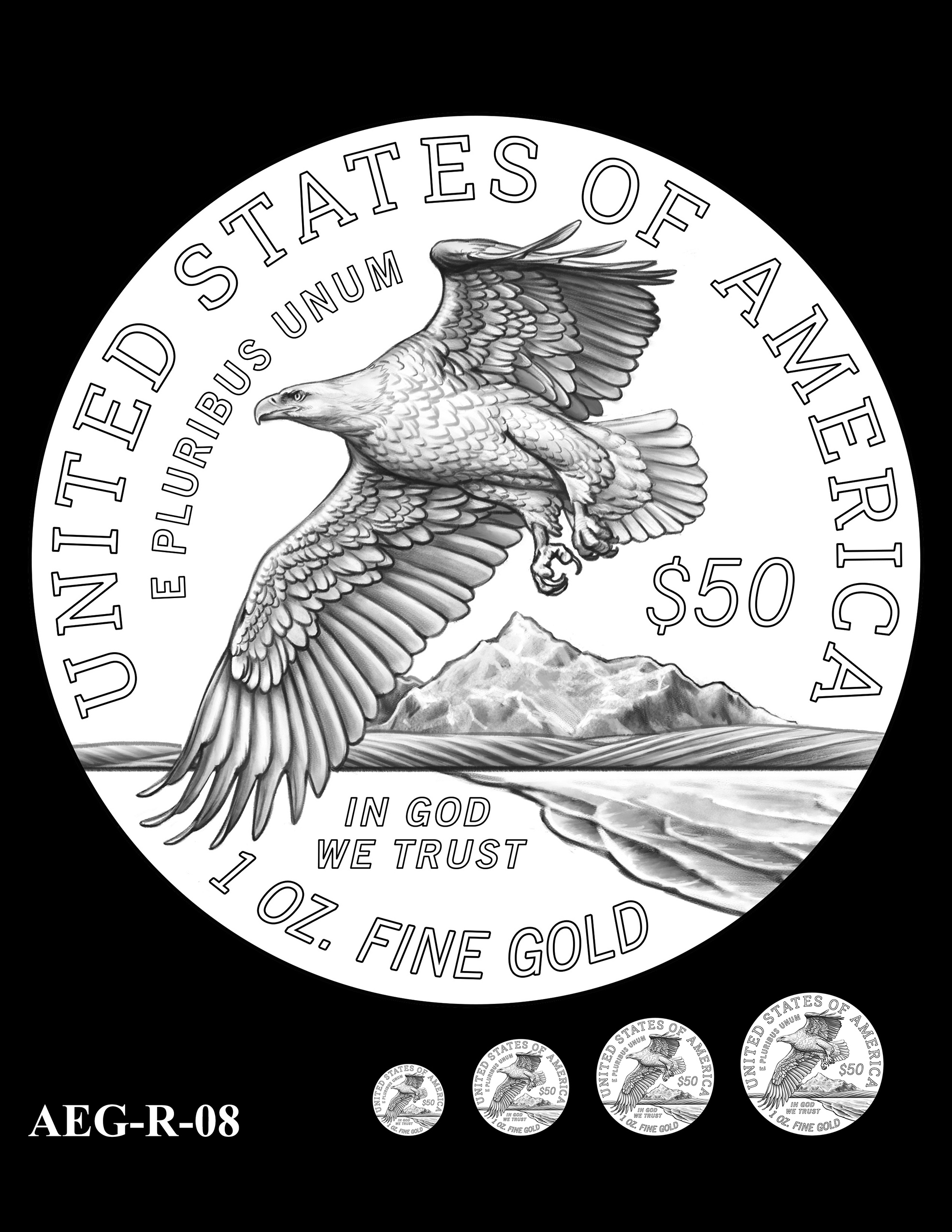 AEG-R-08 -- American Eagle Proof and Bullion Gold Coin - Reverse
