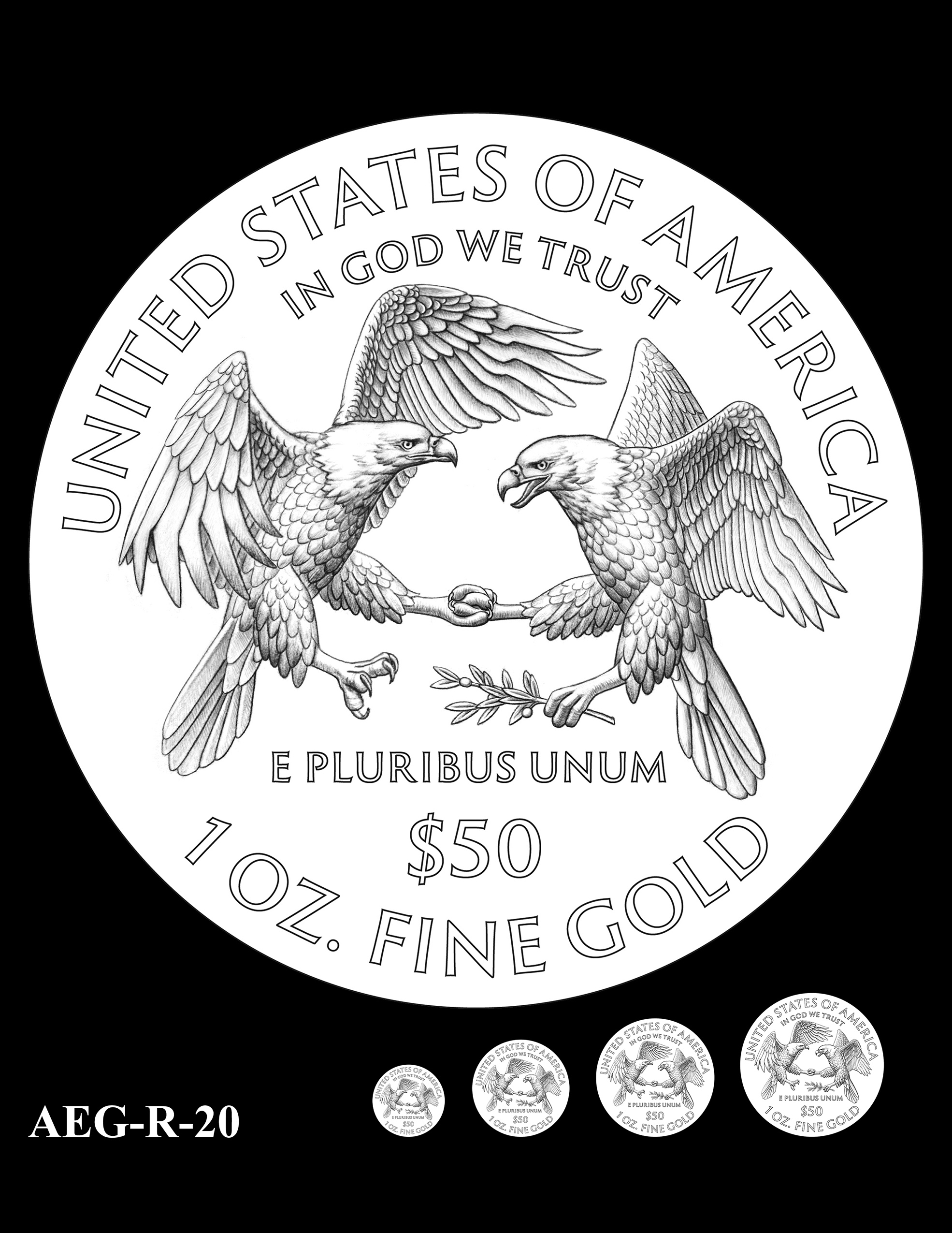 AEG-R-20 -- American Eagle Proof and Bullion Gold Coin - Reverse