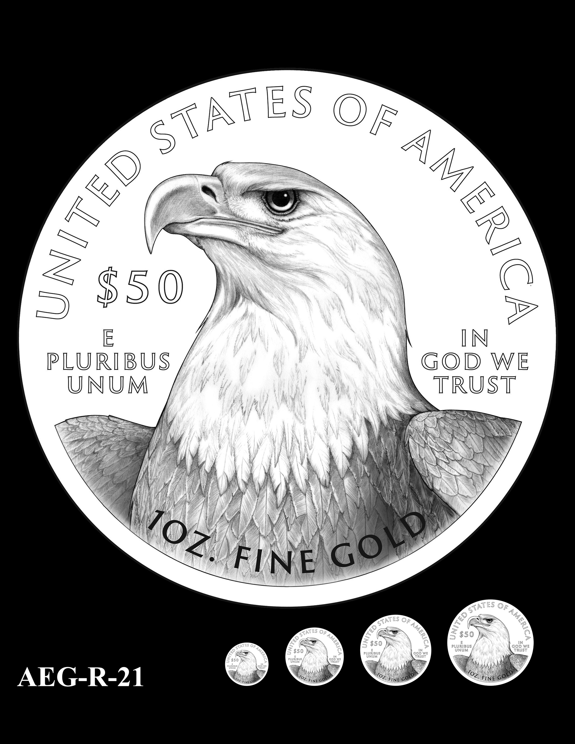 AEG-R-21 -- American Eagle Proof and Bullion Gold Coin - Reverse