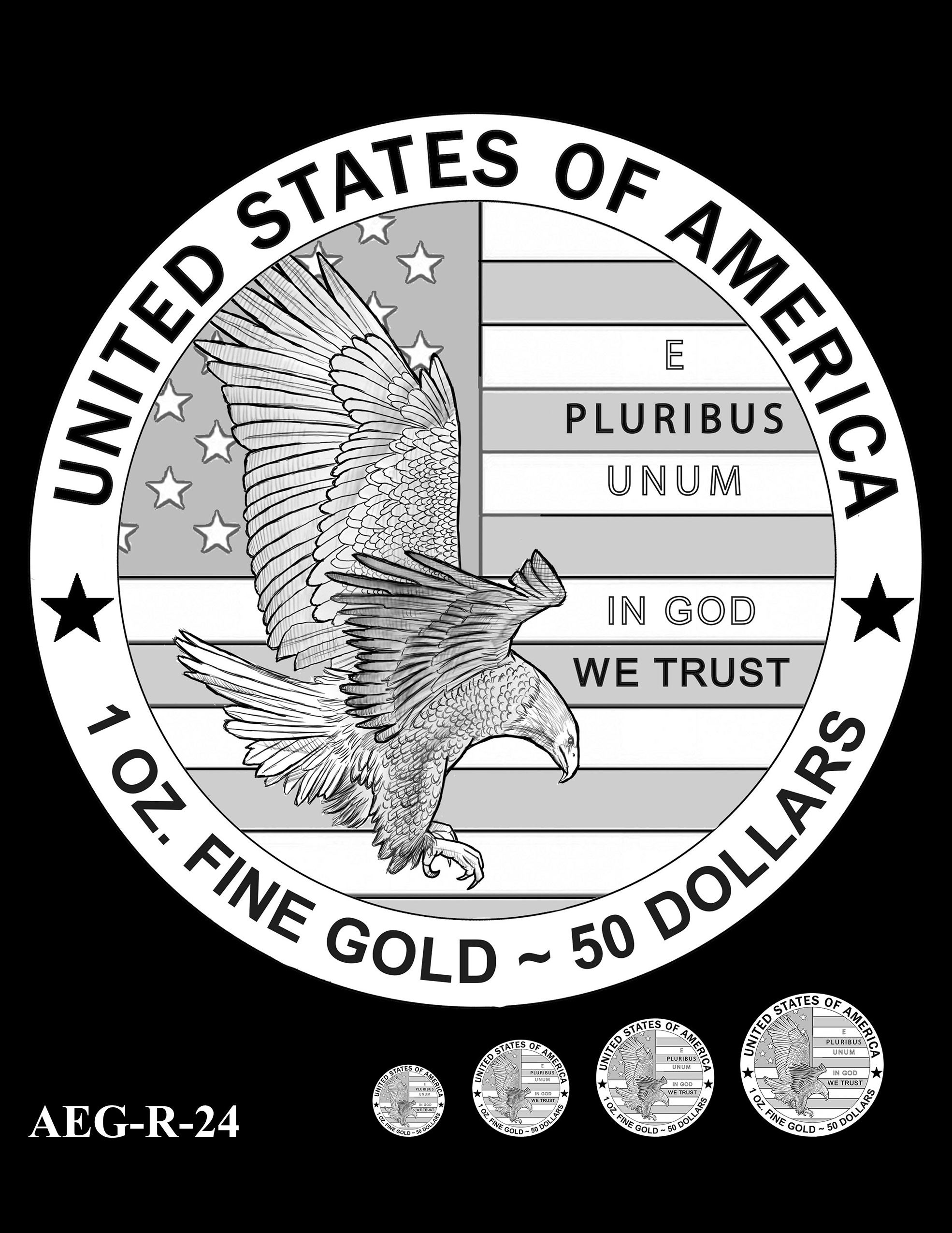 AEG-R-24 -- American Eagle Proof and Bullion Gold Coin - Reverse
