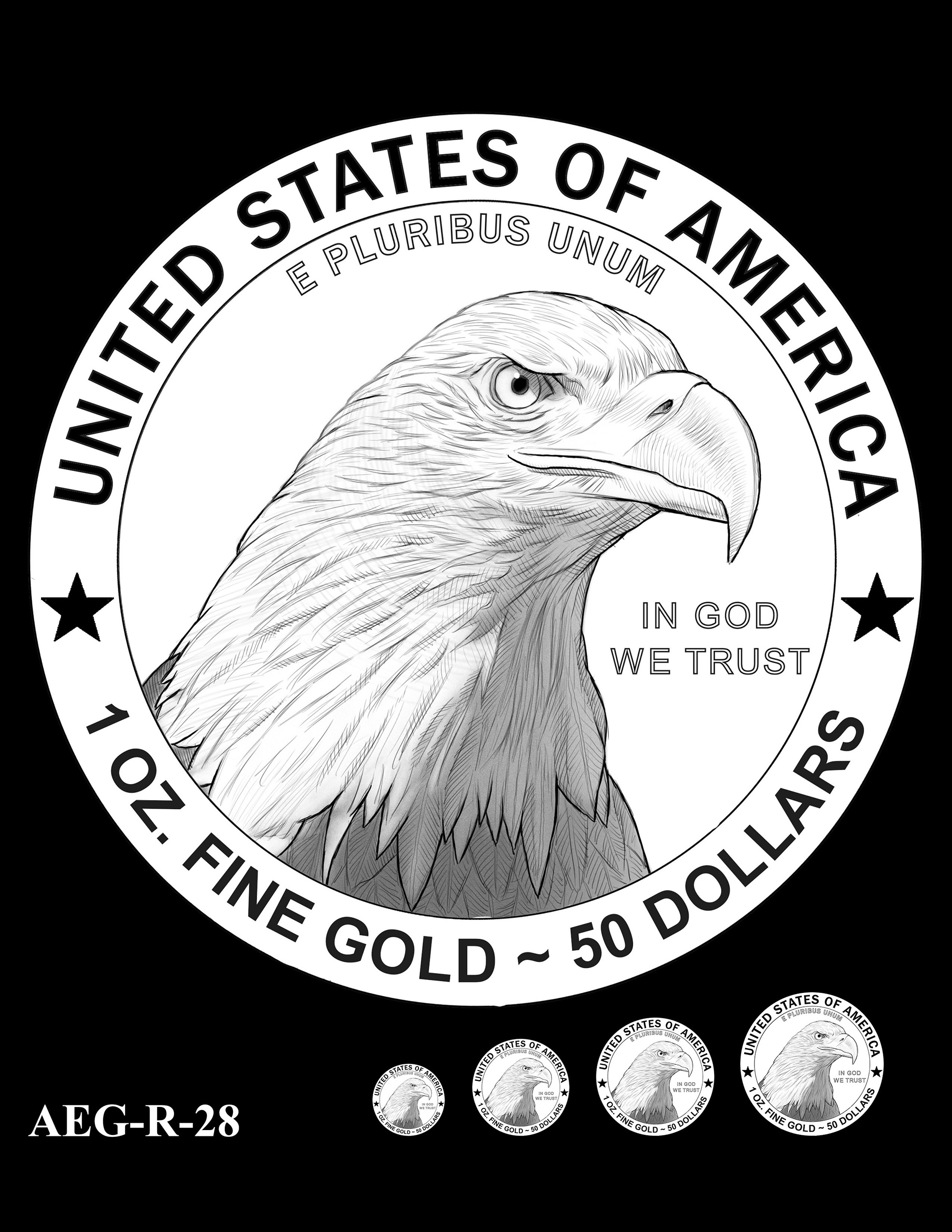 AEG-R-28 -- American Eagle Proof and Bullion Gold Coin - Reverse