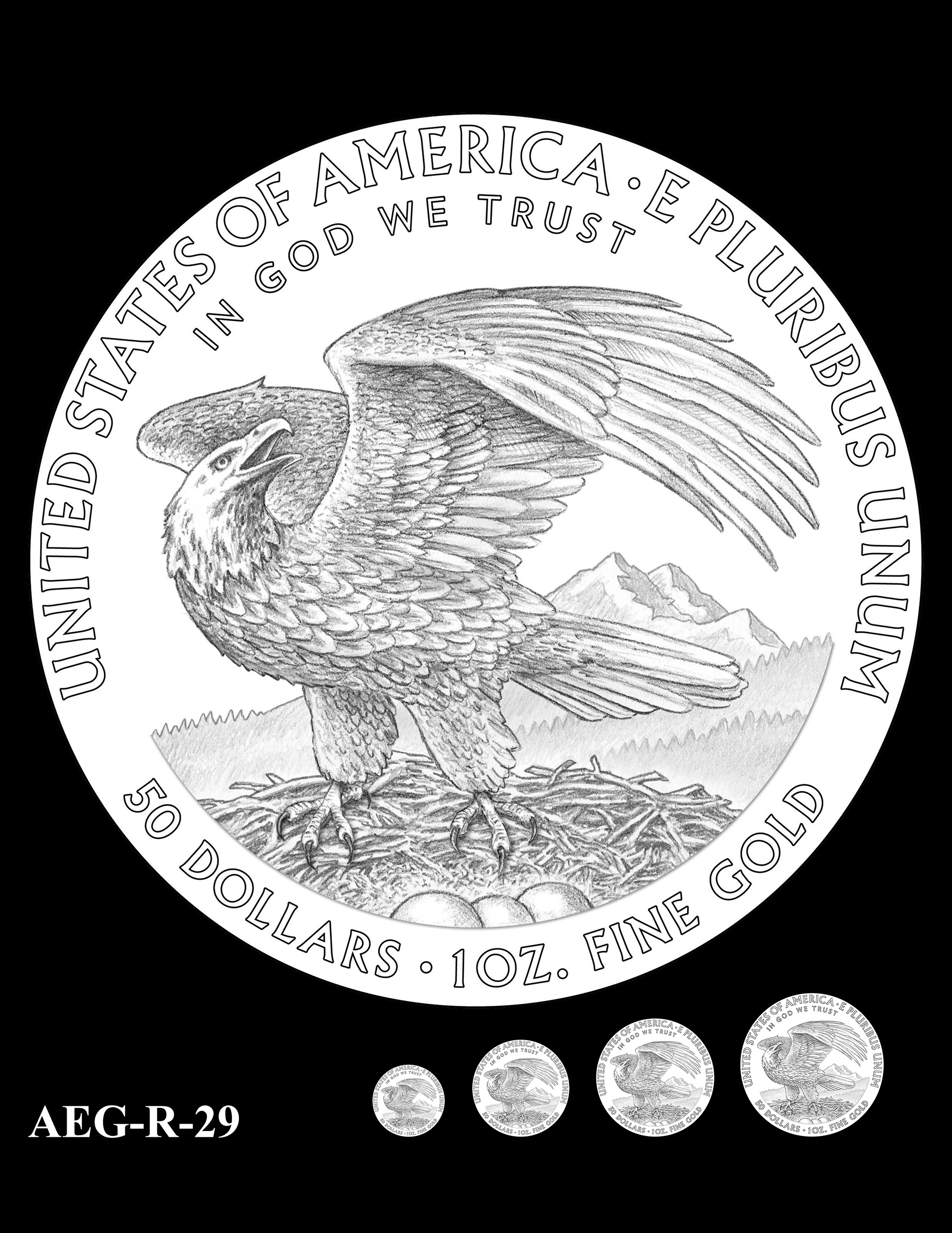 AEG-R-29 -- American Eagle Proof and Bullion Gold Coin - Reverse