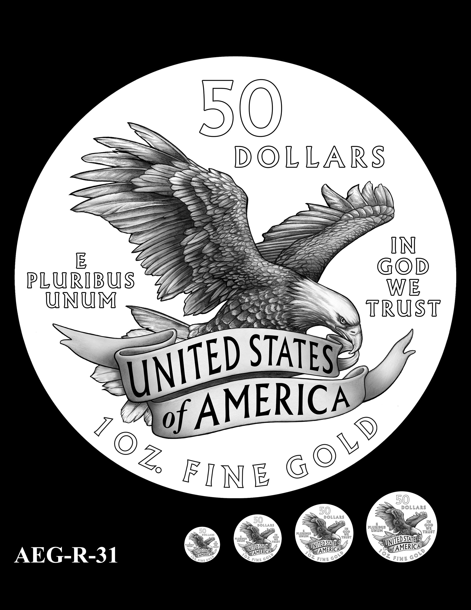 AEG-R-31 -- American Eagle Proof and Bullion Gold Coin - Reverse