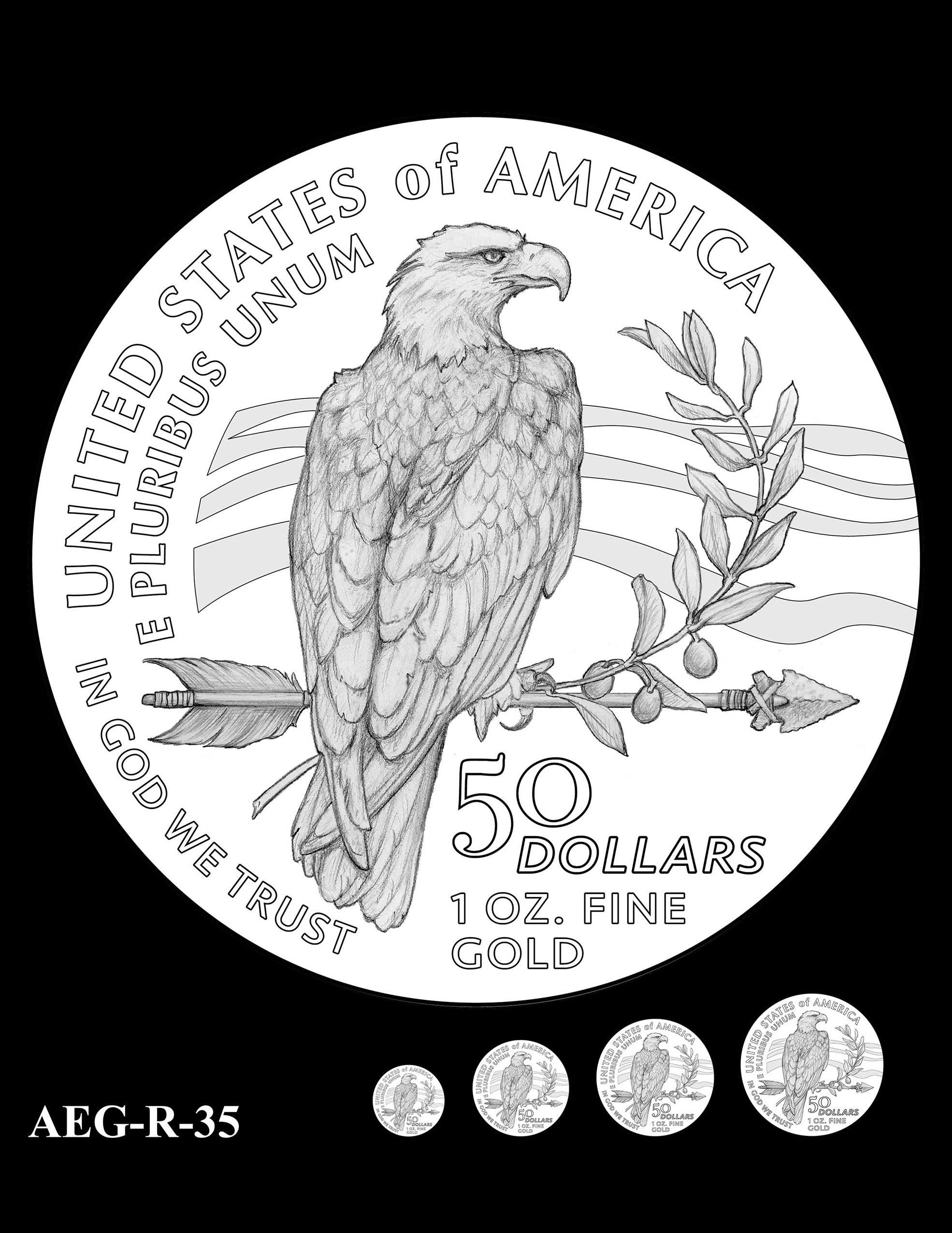 AEG-R-35 -- American Eagle Proof and Bullion Gold Coin - Reverse