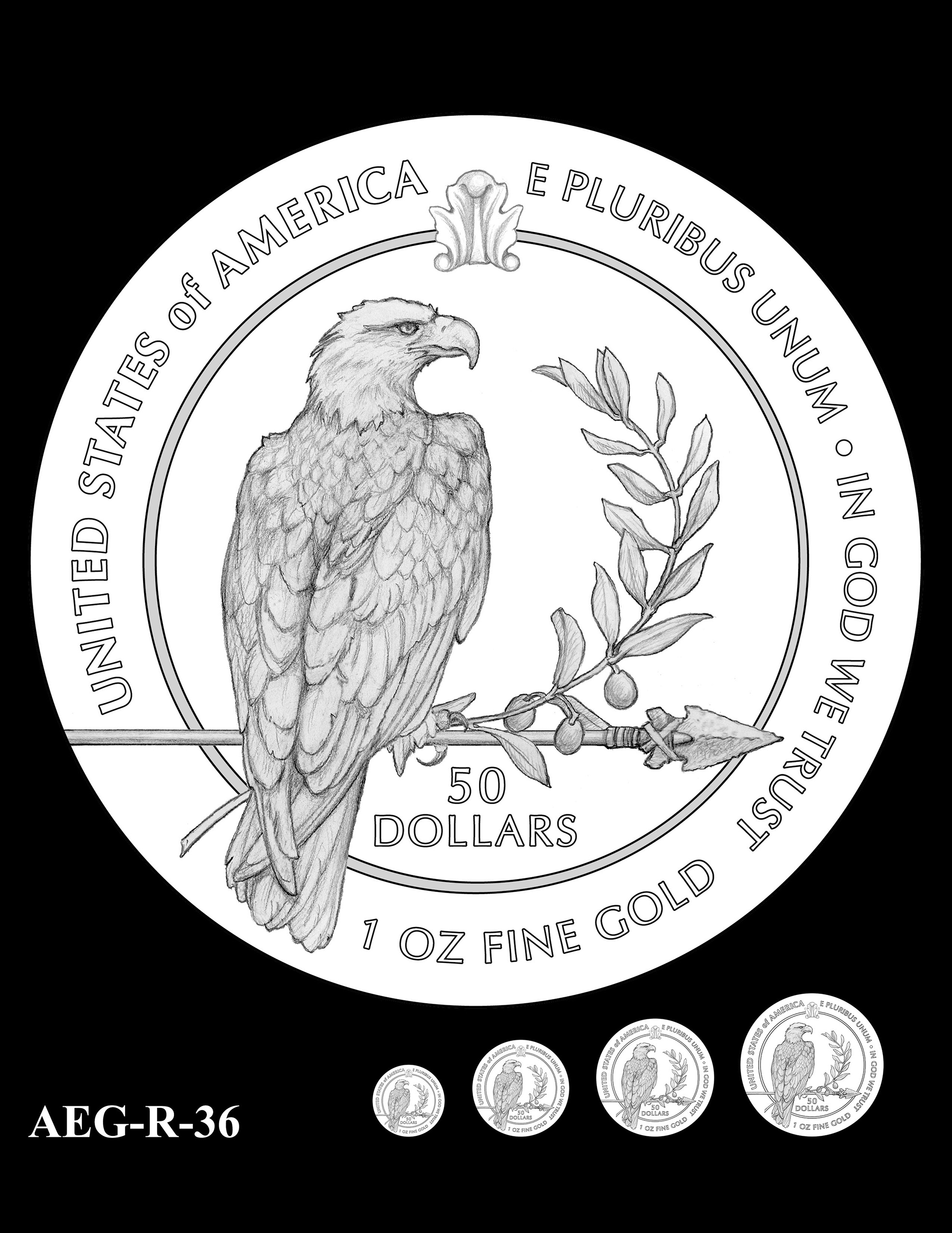 AEG-R-36 -- American Eagle Proof and Bullion Gold Coin - Reverse