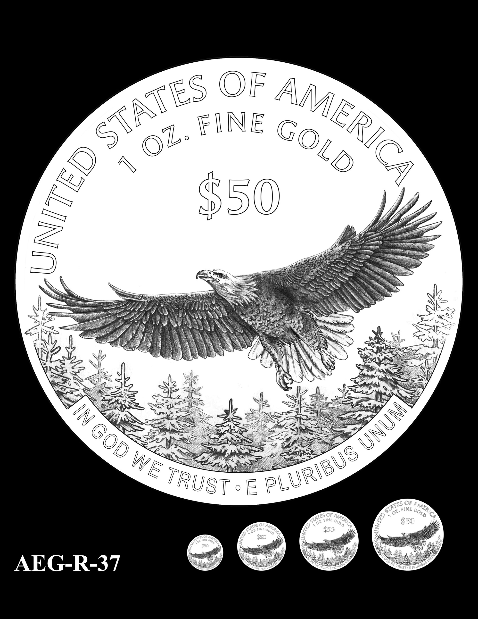 AEG-R-37 -- American Eagle Proof and Bullion Gold Coin - Reverse