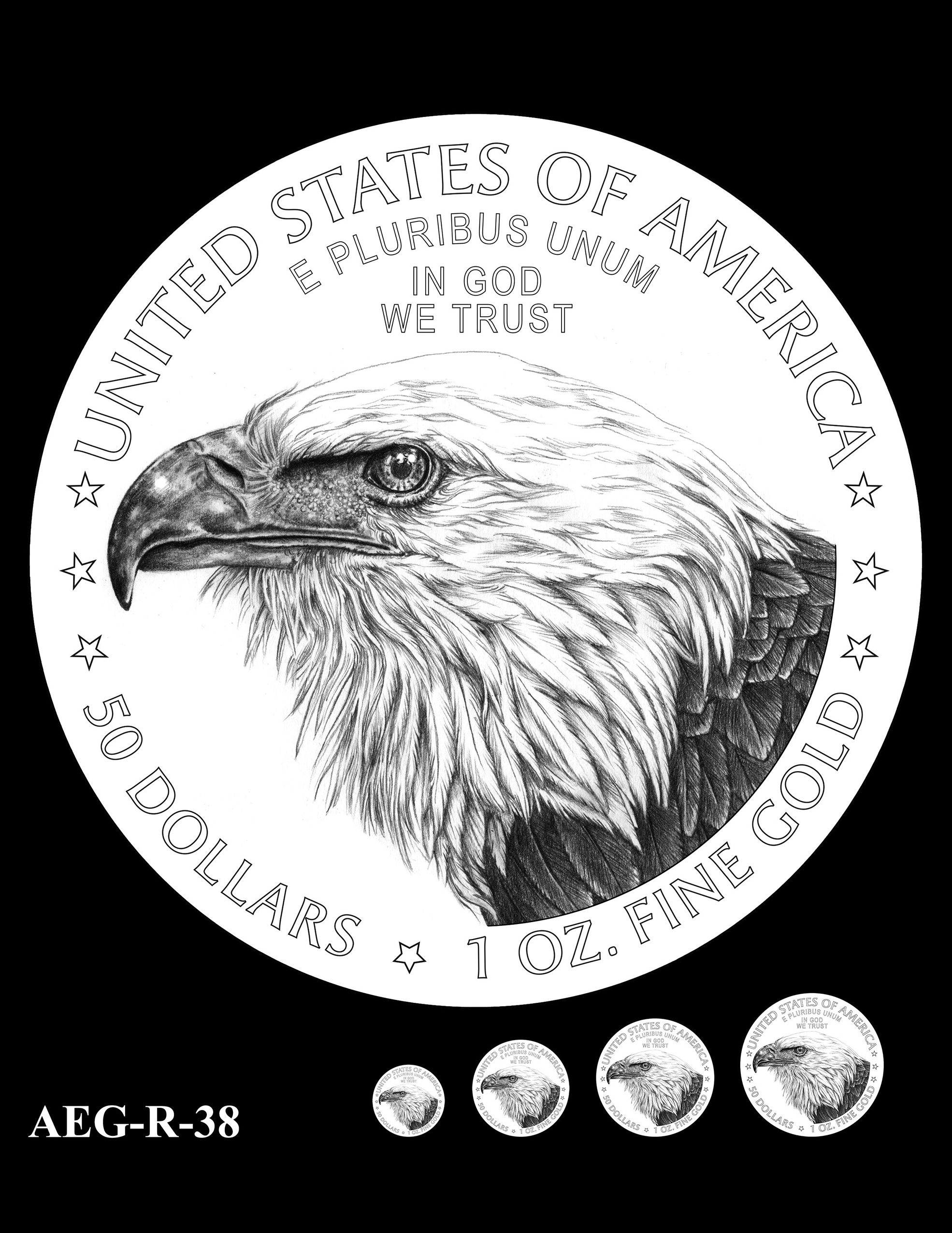 AEG-R-38 -- American Eagle Proof and Bullion Gold Coin - Reverse
