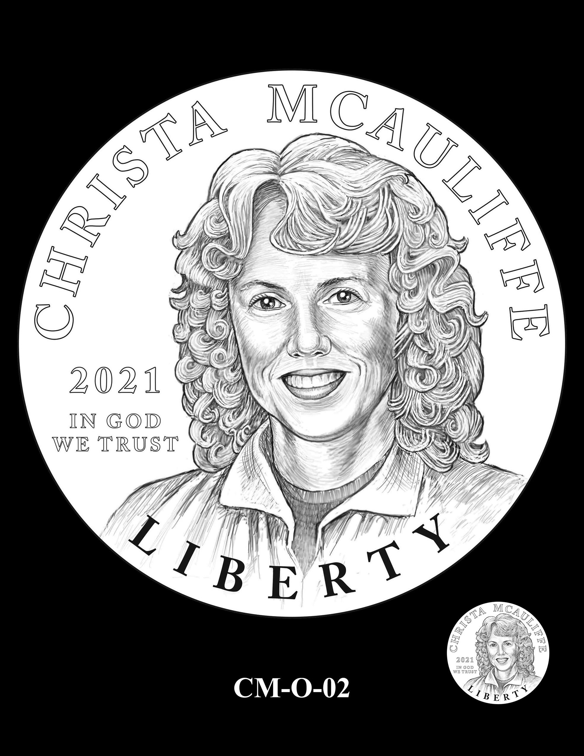 CM-O-02 -- 2021 Christa McAuliffe Commemorative Coin