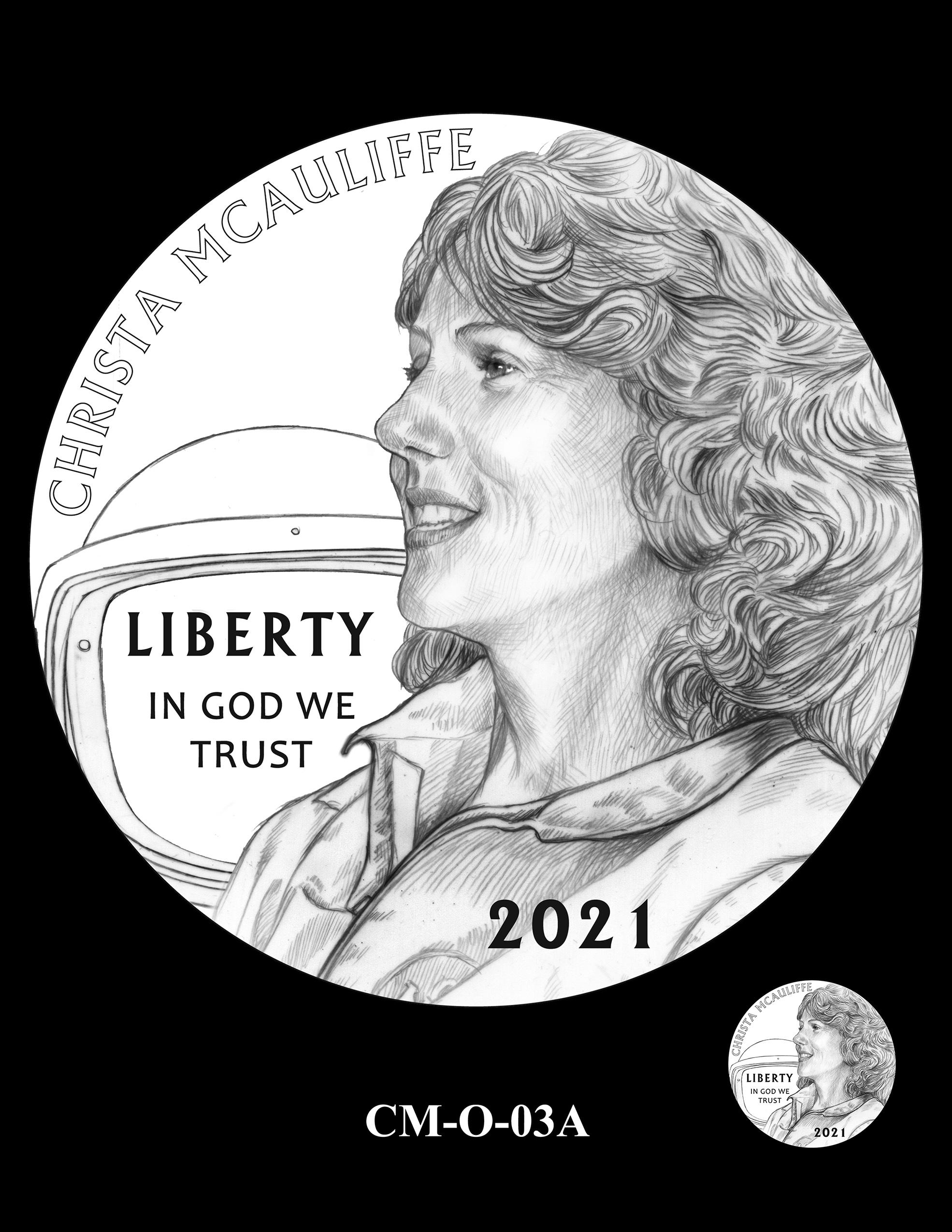 CM-O-03A -- 2021 Christa McAuliffe Commemorative Coin