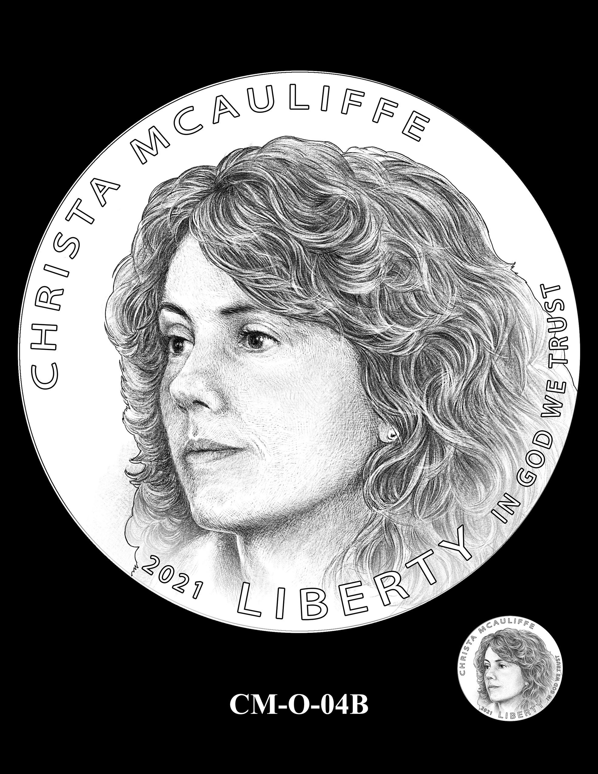 CM-O-04B -- 2021 Christa McAuliffe Commemorative Coin