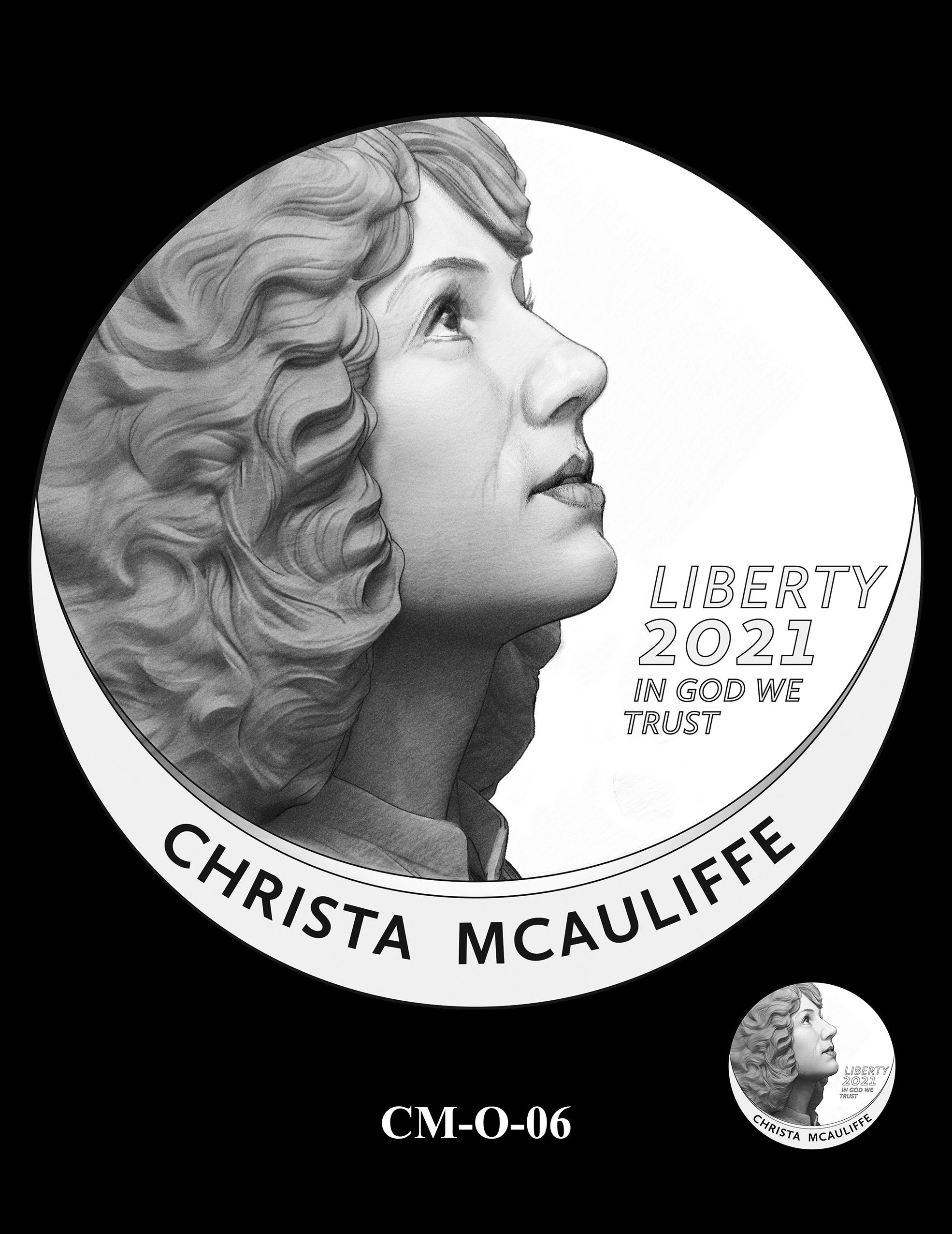 CM-O-06 -- 2021 Christa McAuliffe Commemorative Coin