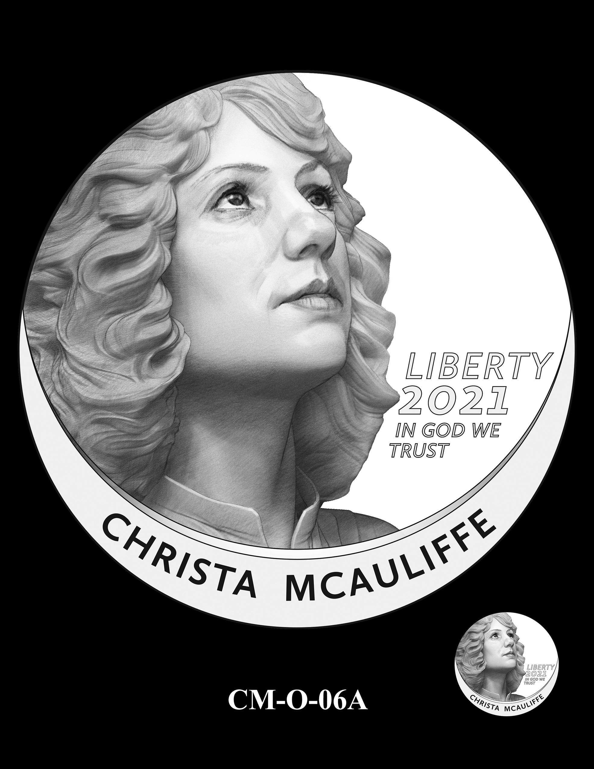 CM-O-06A -- 2021 Christa McAuliffe Commemorative Coin