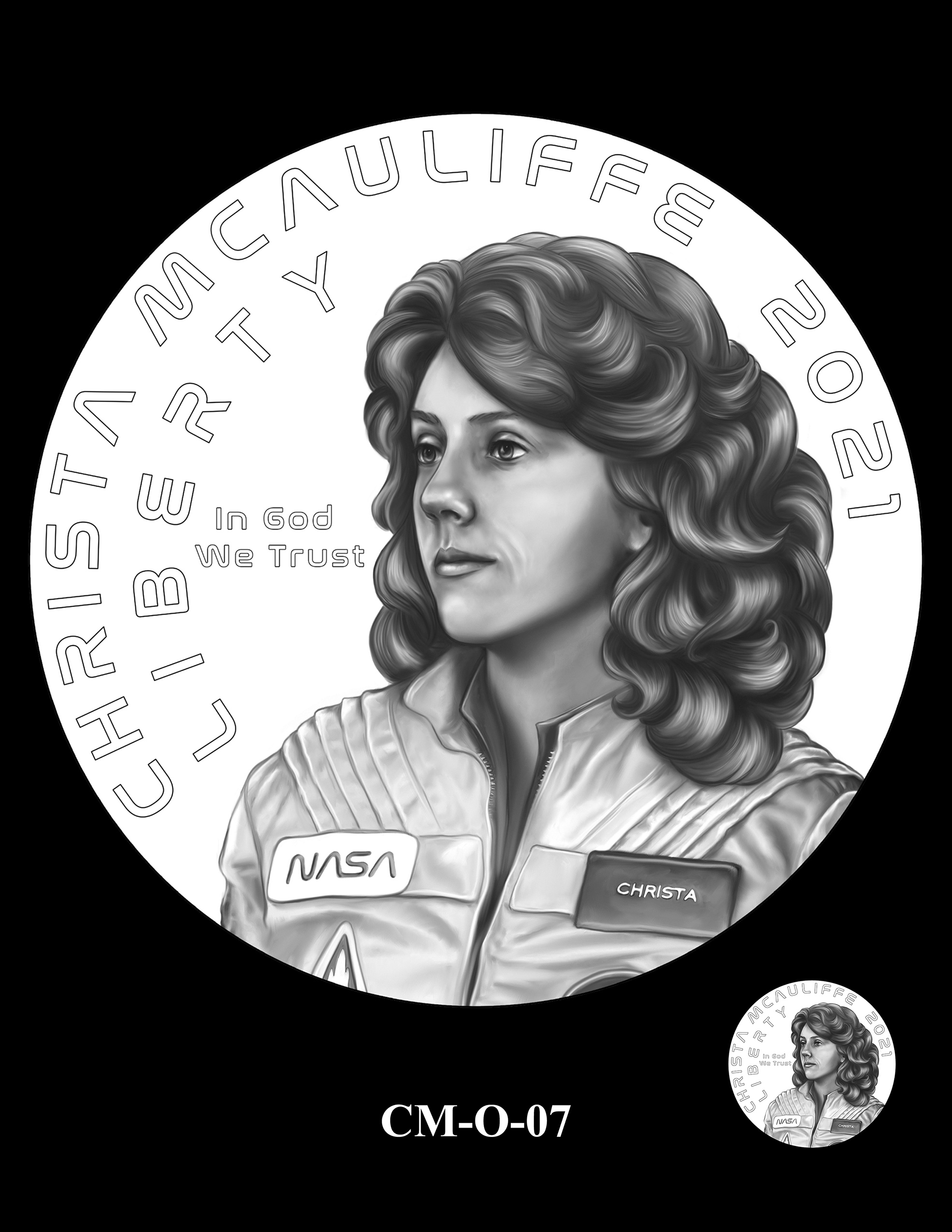CM-O-07 -- 2021 Christa McAuliffe Commemorative Coin