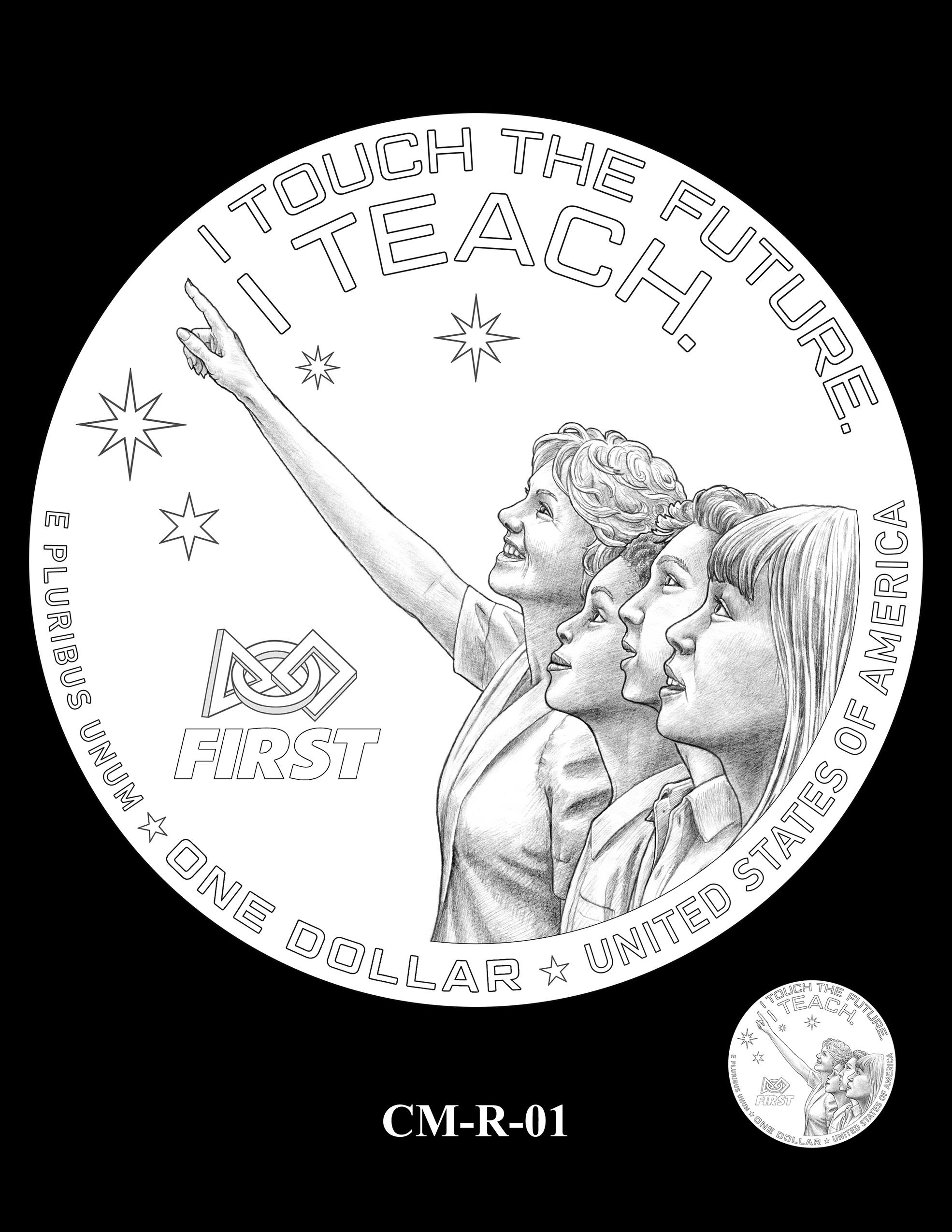 CM-R-01 -- 2021 Christa McAuliffe Commemorative Coin