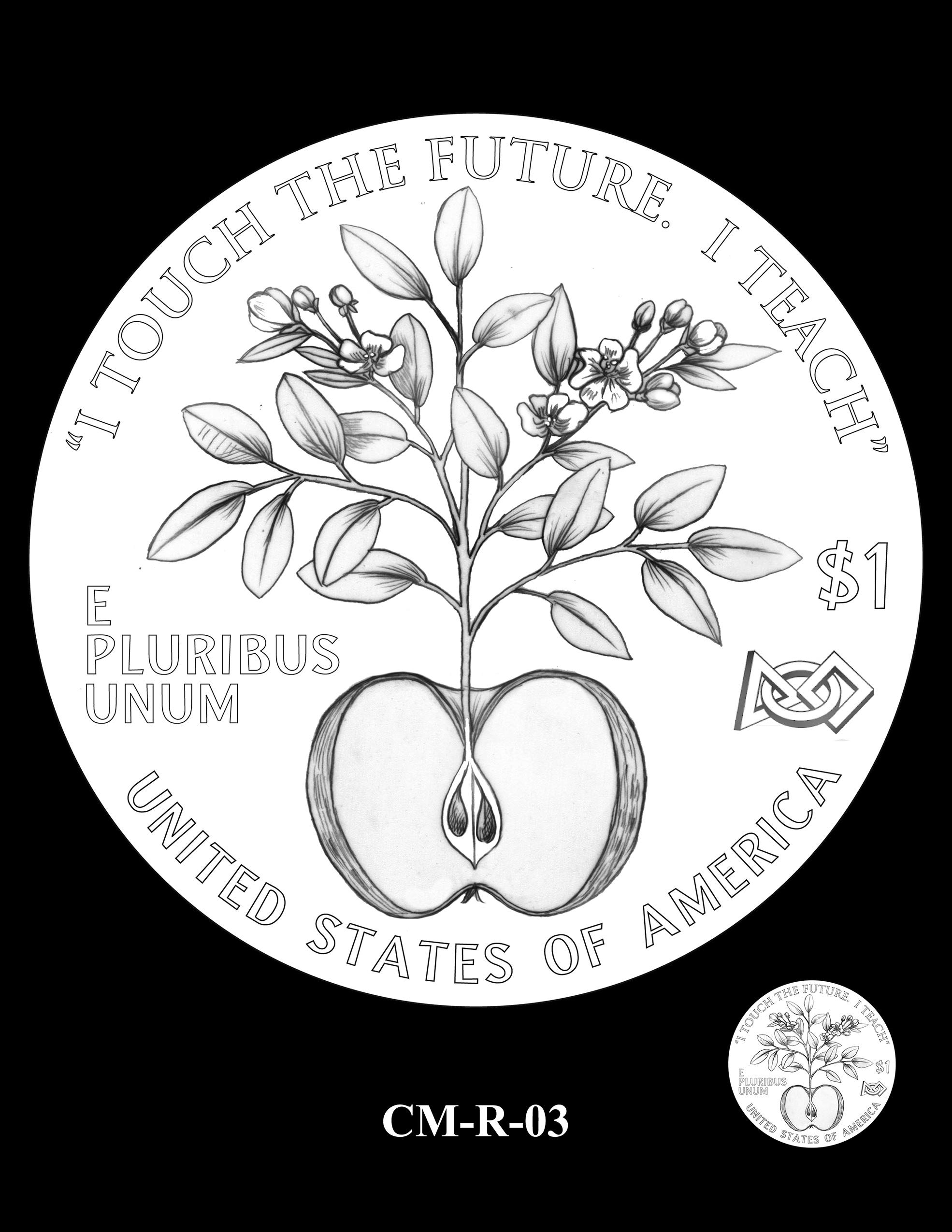 CM-R-03 -- 2021 Christa McAuliffe Commemorative Coin