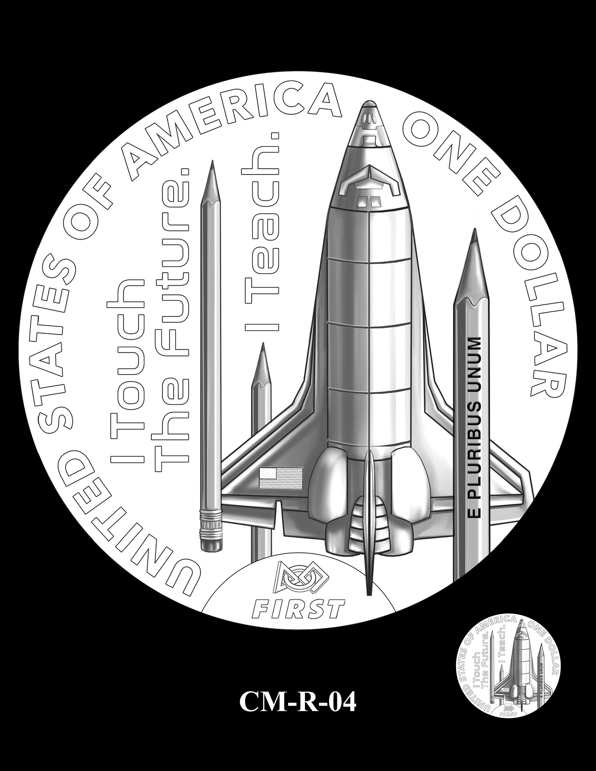 CM-R-04 -- 2021 Christa McAuliffe Commemorative Coin