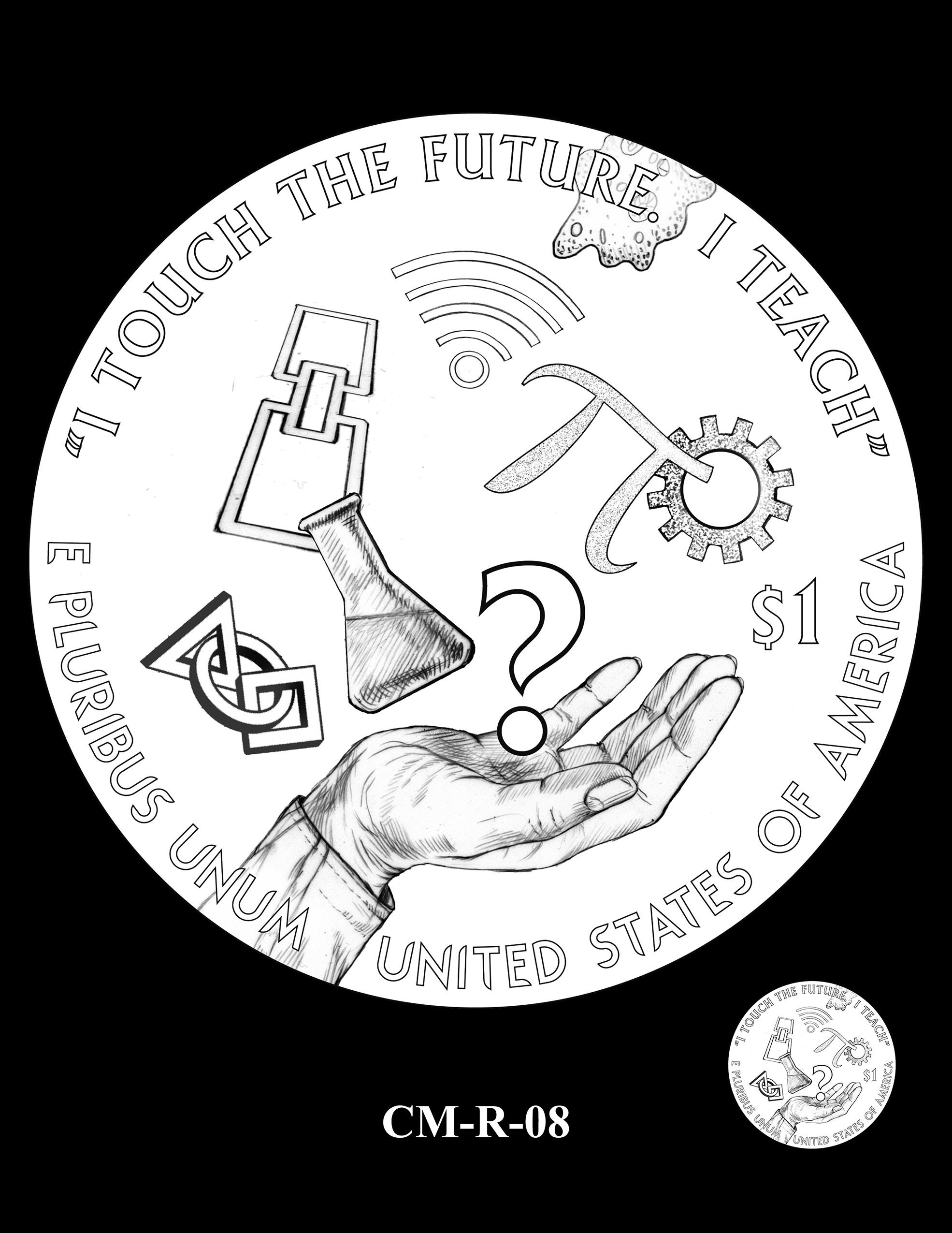 CM-R-08 -- 2021 Christa McAuliffe Commemorative Coin