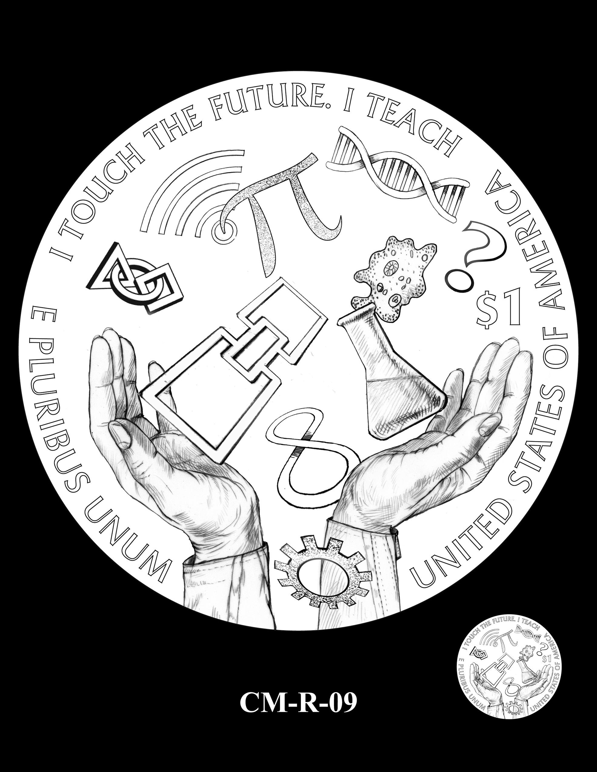 CM-R-09 -- 2021 Christa McAuliffe Commemorative Coin