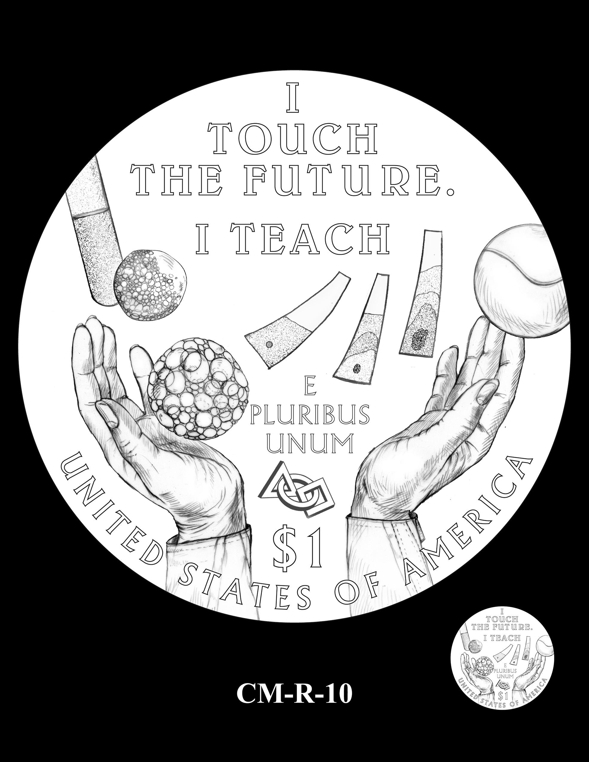 CM-R-10 -- 2021 Christa McAuliffe Commemorative Coin