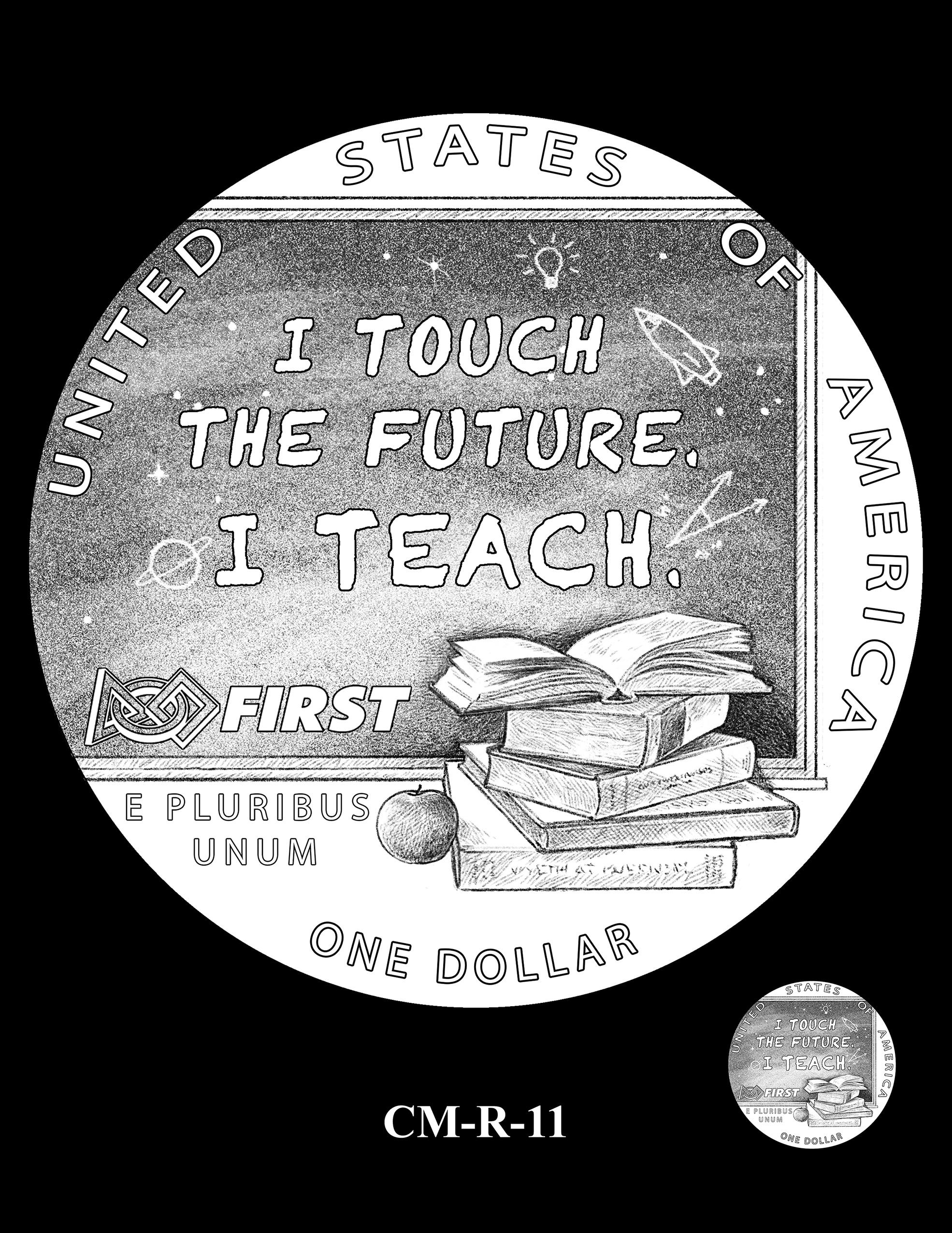 CM-R-11 -- 2021 Christa McAuliffe Commemorative Coin