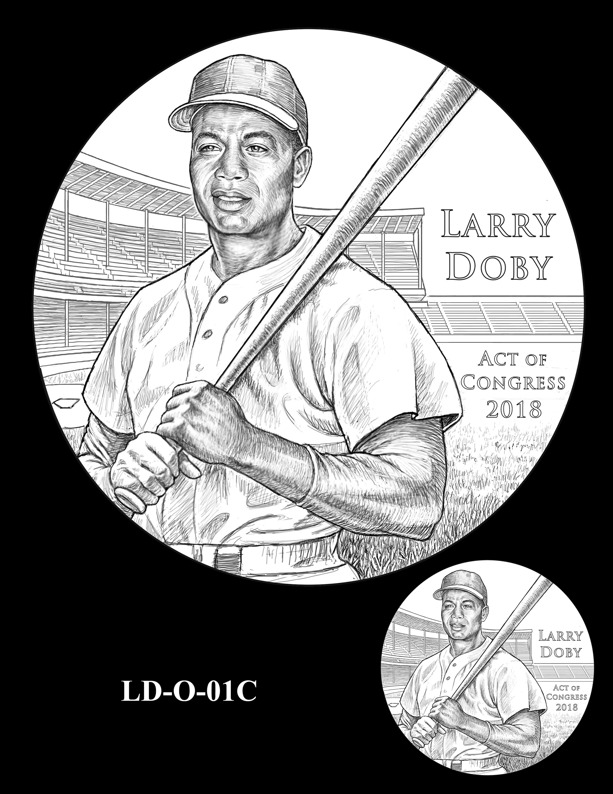 LD-O-01C -- Larry Doby Congressional Gold Medal