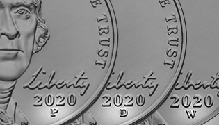 P, D, W Mint Marks on 2020 nickel Learn feature